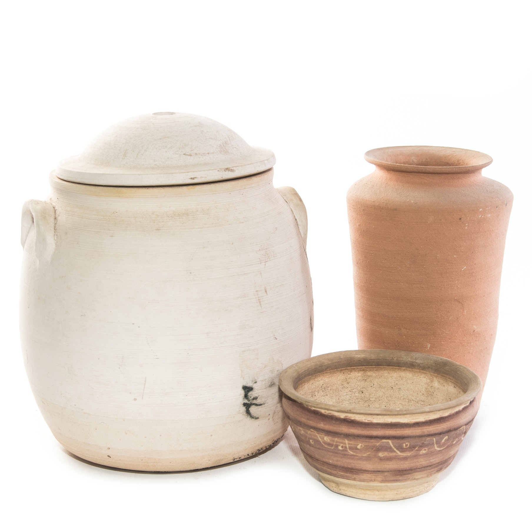 Unglazed Pottery Featuring Brown Pottery
