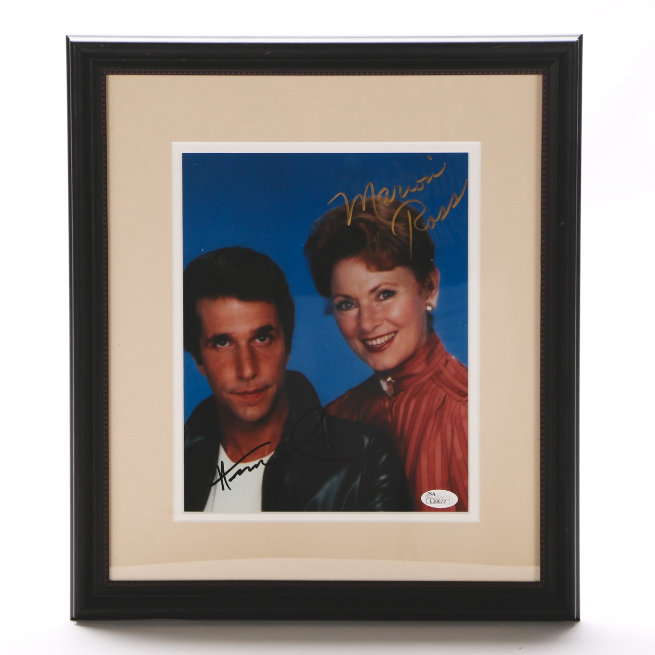 Happy Days TV Series Signed Framed Display JSA COA
