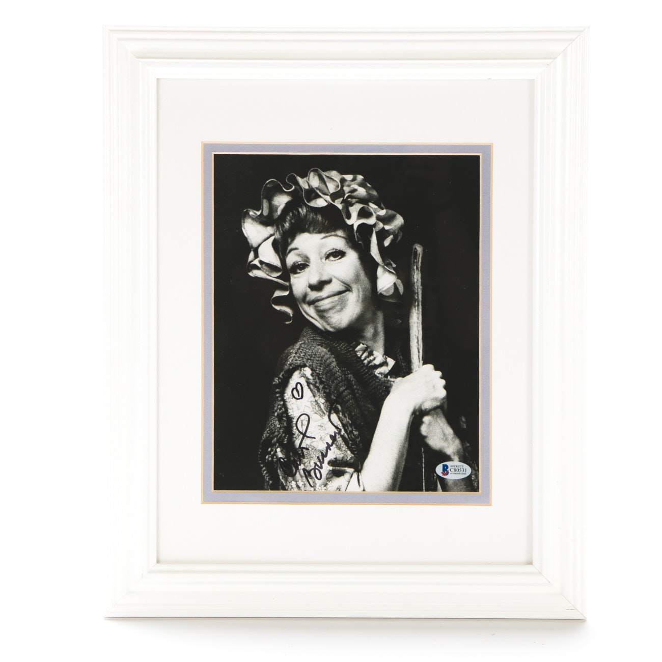 Carol Burnett Television Legendary Comic Signed Framed Display Beckett COA