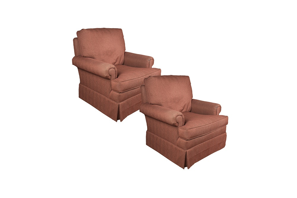 Upholstered Swivel Armchairs by Hickory Chair