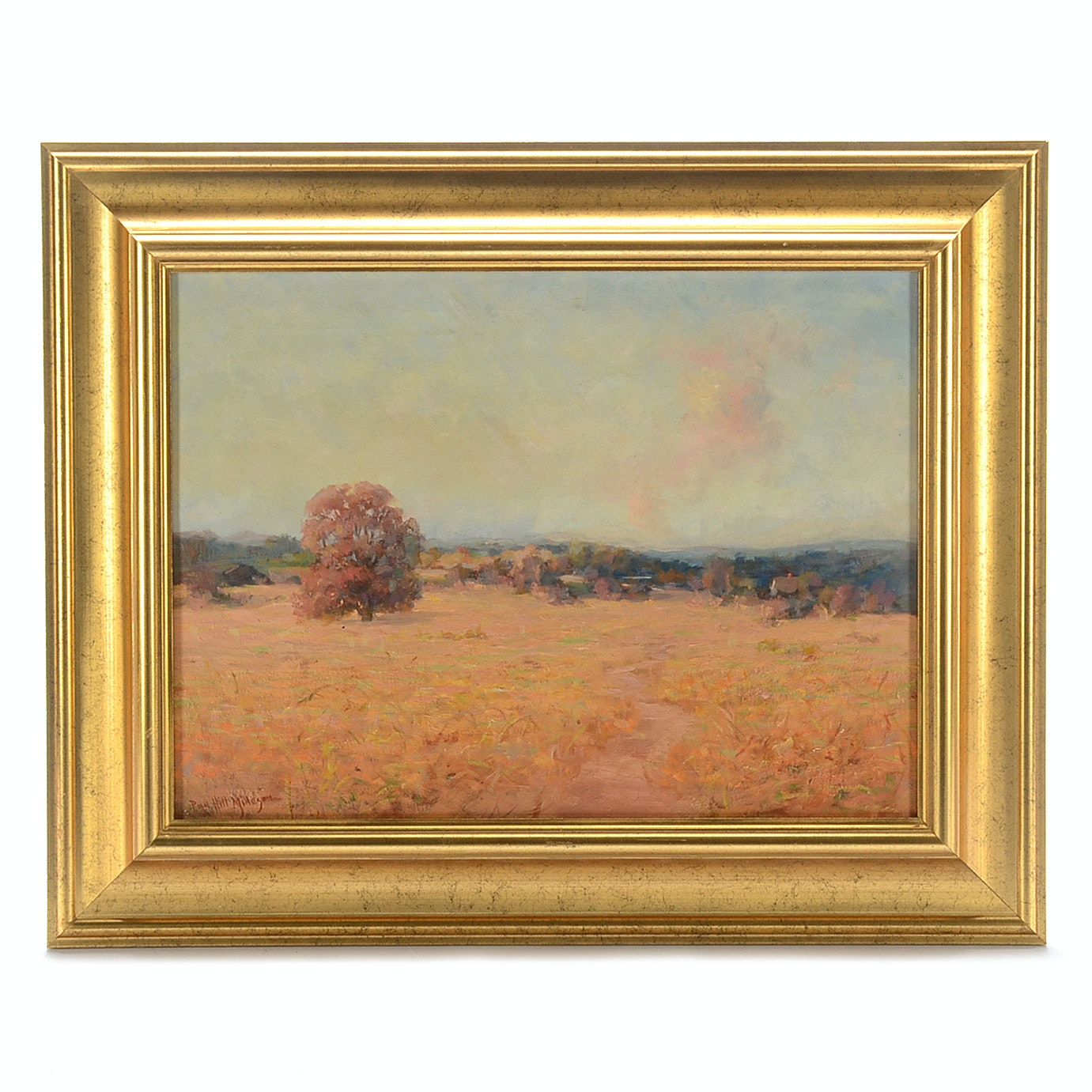 Royal Hill Milleson Impressionist Oil on Canvas Landscape Painting