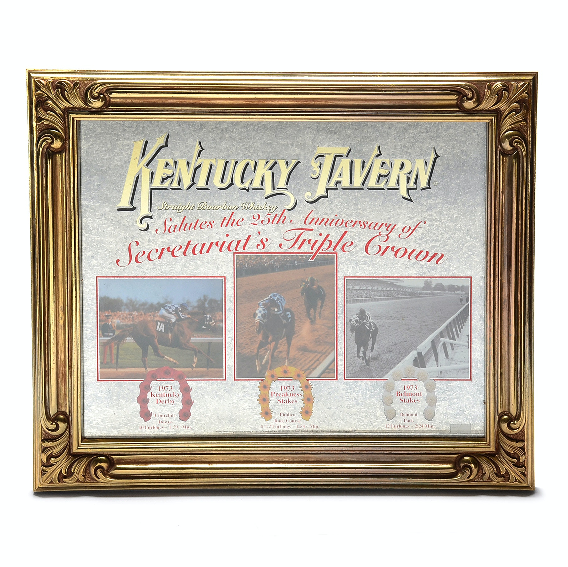 Limited Edition Advertising Sign for Kentucky Tavern featuring Secretariat