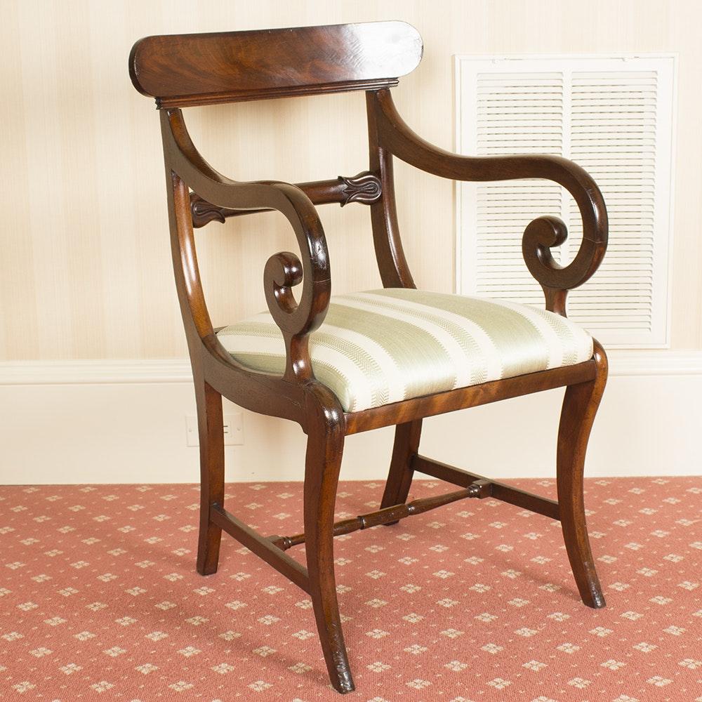 Mahogany Regency Style Armchair