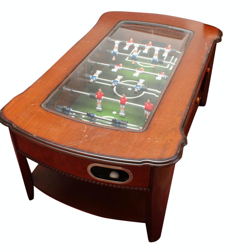 Foosball Coffee Table EBTH - Foosball coffee table with stools