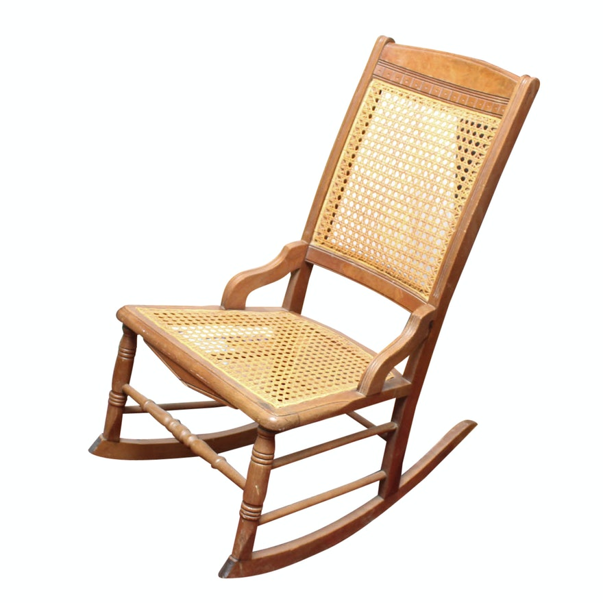 Antique Cane Rocking Chair ... - Antique Cane Rocking Chair : EBTH
