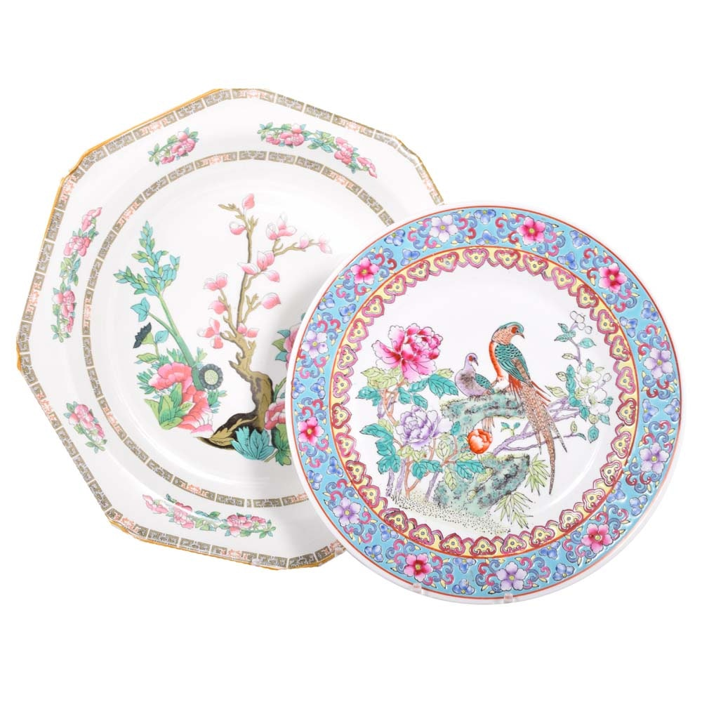 Chinese and Chinese Inspired Ceramic Plates Including Wood & Sons