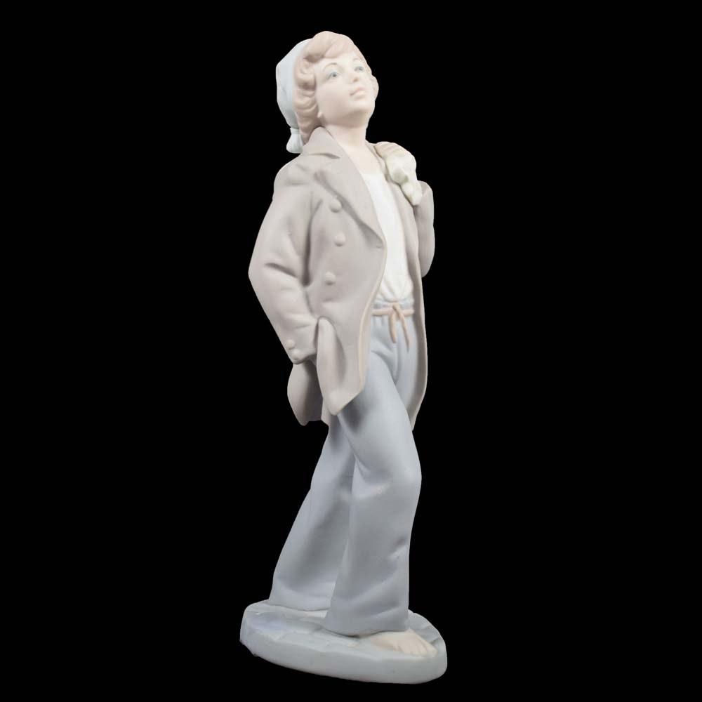 "NAO by Lladró ""On Shore Sailor Boy"" Porcelain Bisque Figurine"