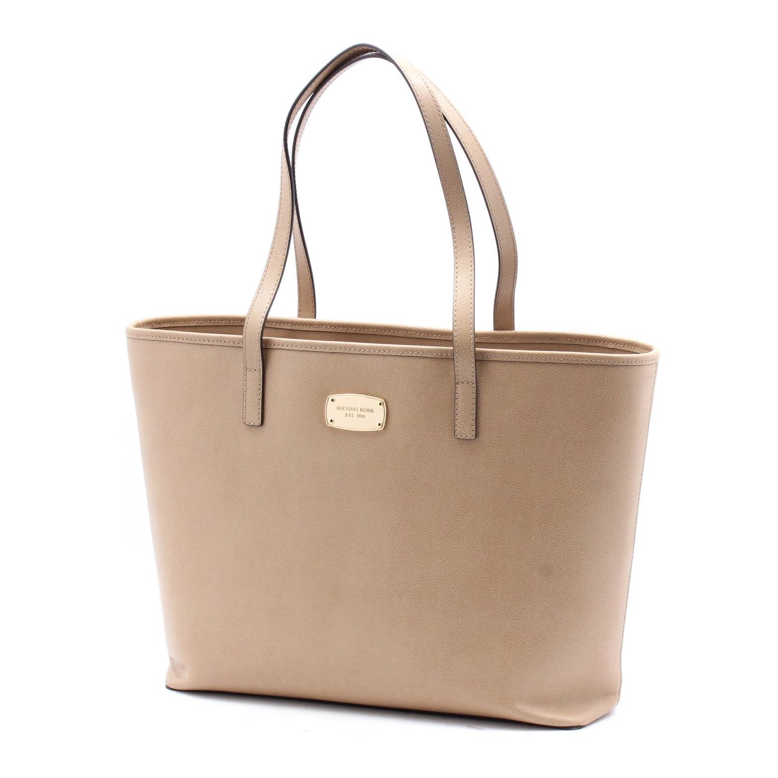 MICHAEL Michael Kors Nude Leather Tote Bag