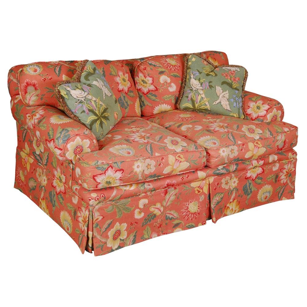 Floral Upholstered Loveseat