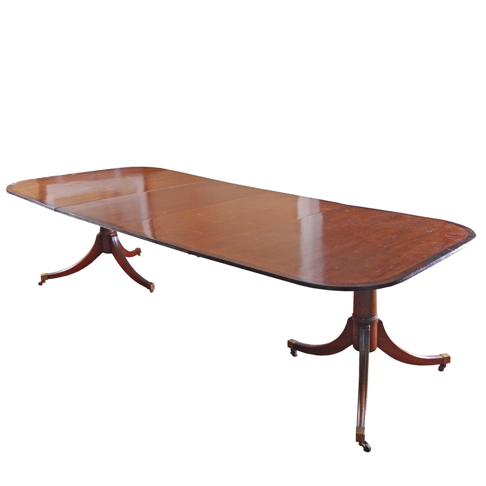 Phyfe Style Double Pedestal Dining Table