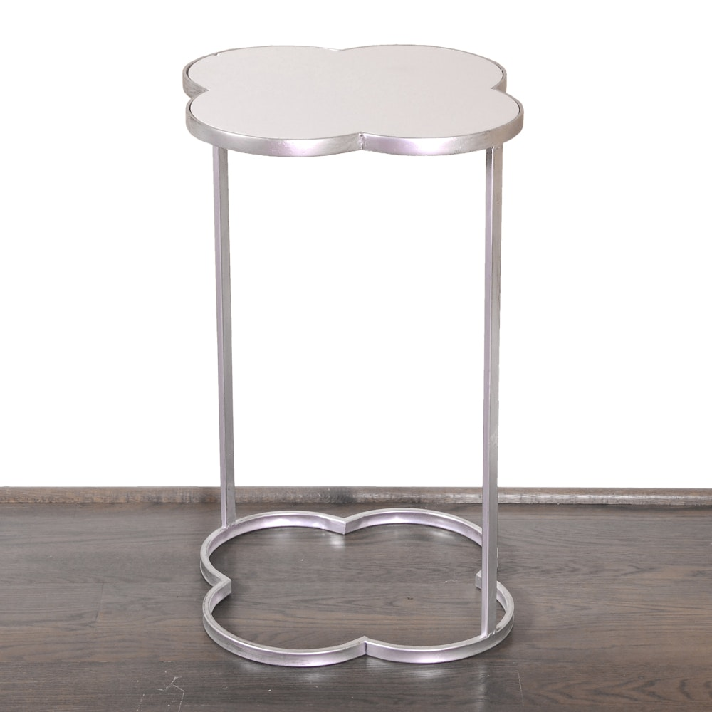 Contemporary Metal and Ceramic Accent Table