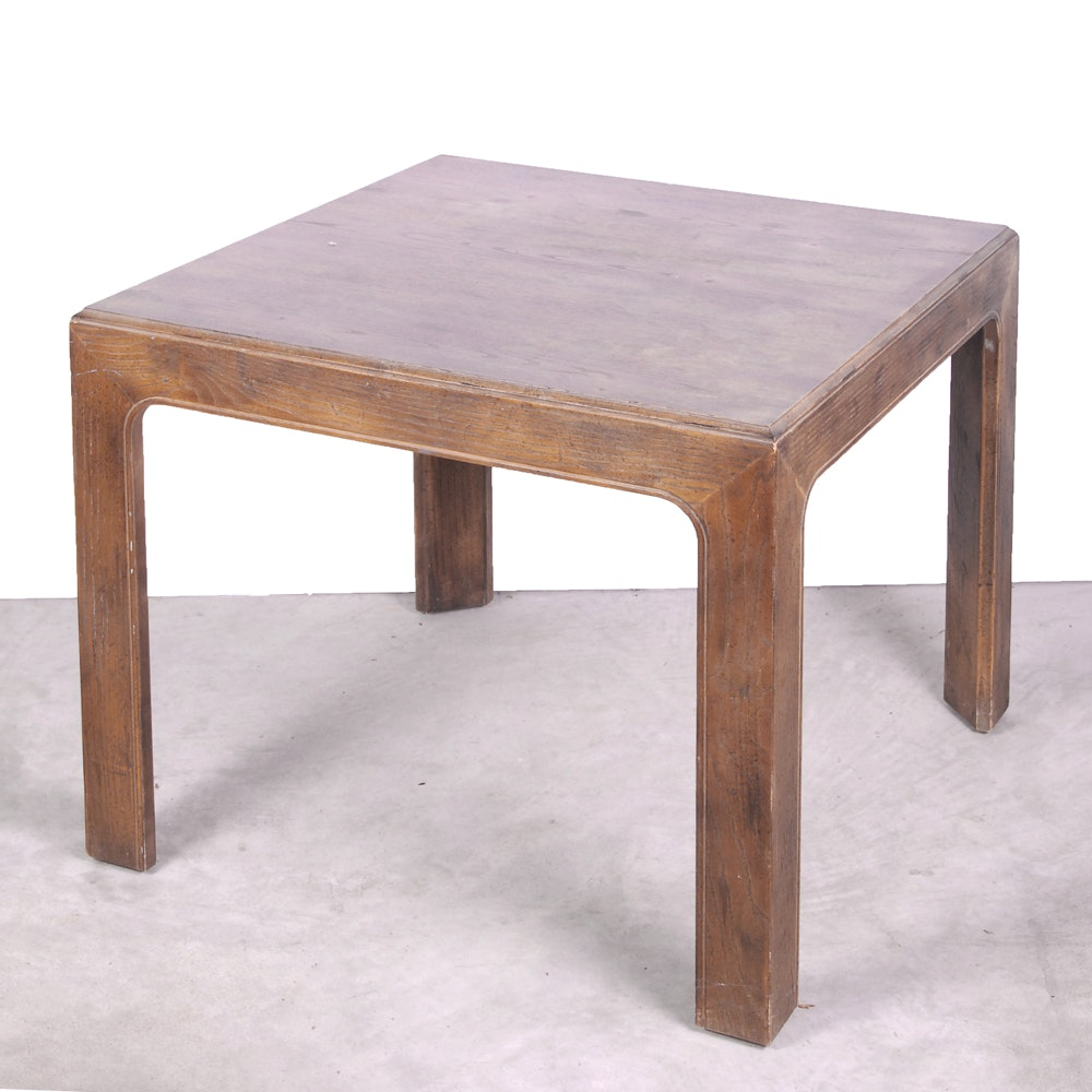 Parsons Style Wooden End Table by Henredon
