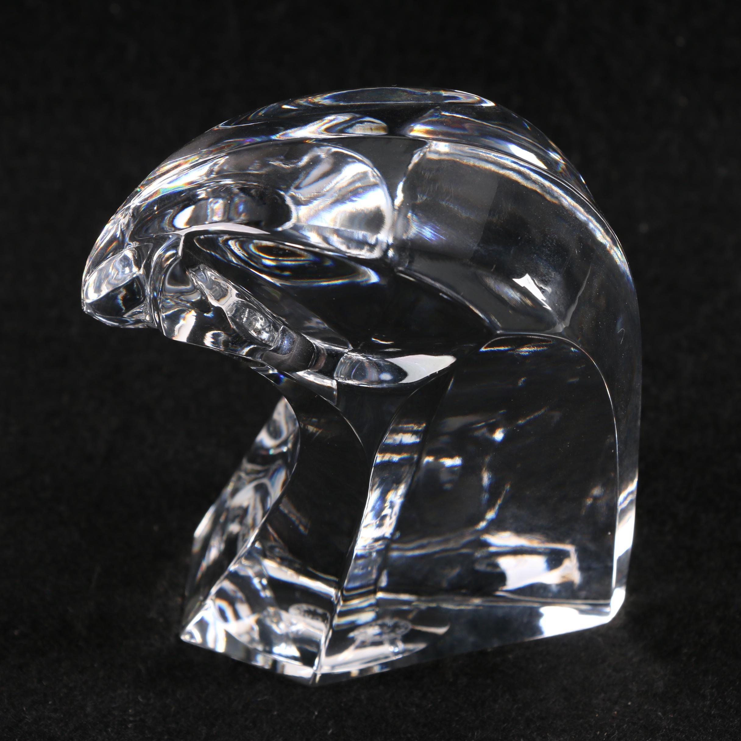 Saint-Louis Crystal Bald Eagle Head