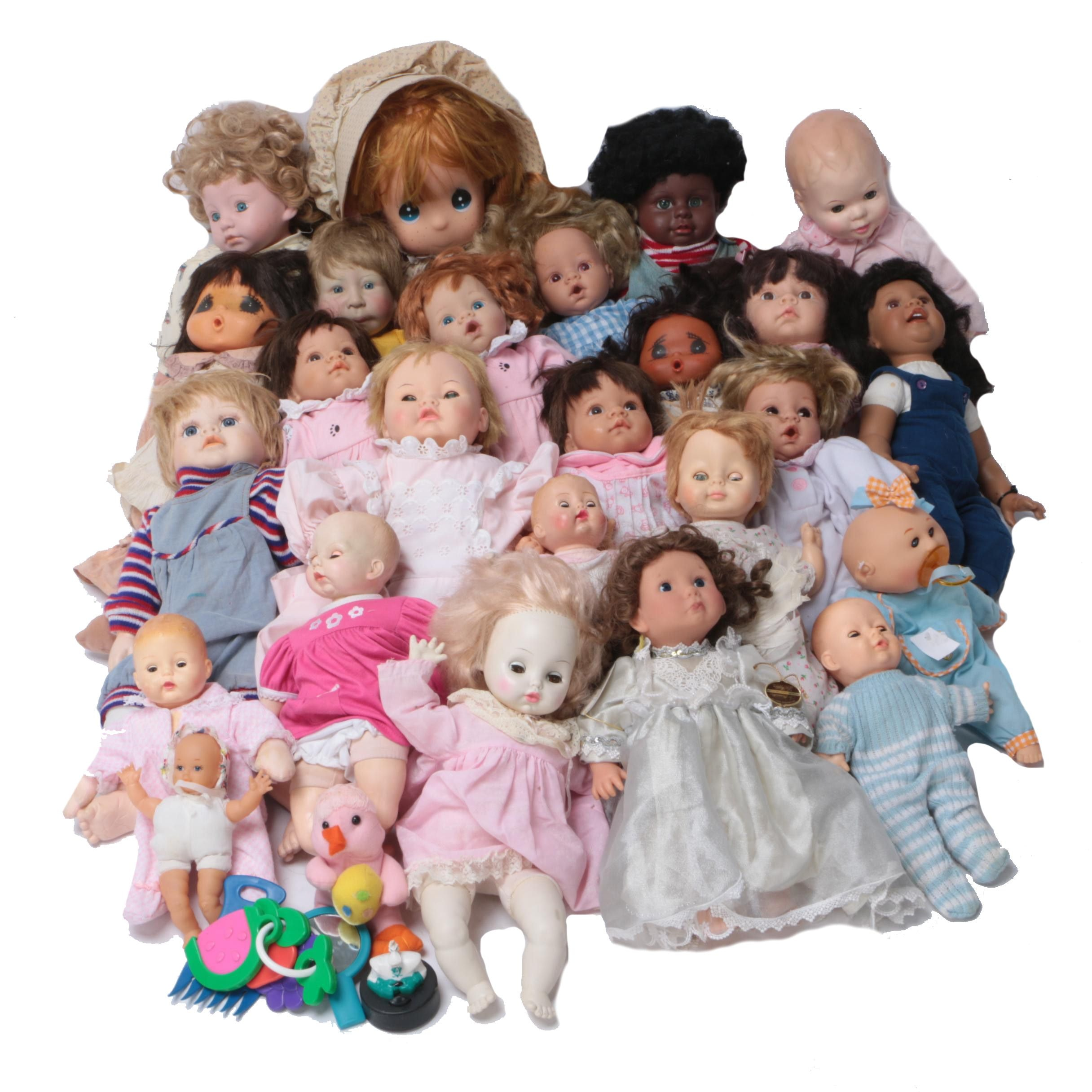 Vintage and Contemporary Baby Dolls Featuring Lee Middleton