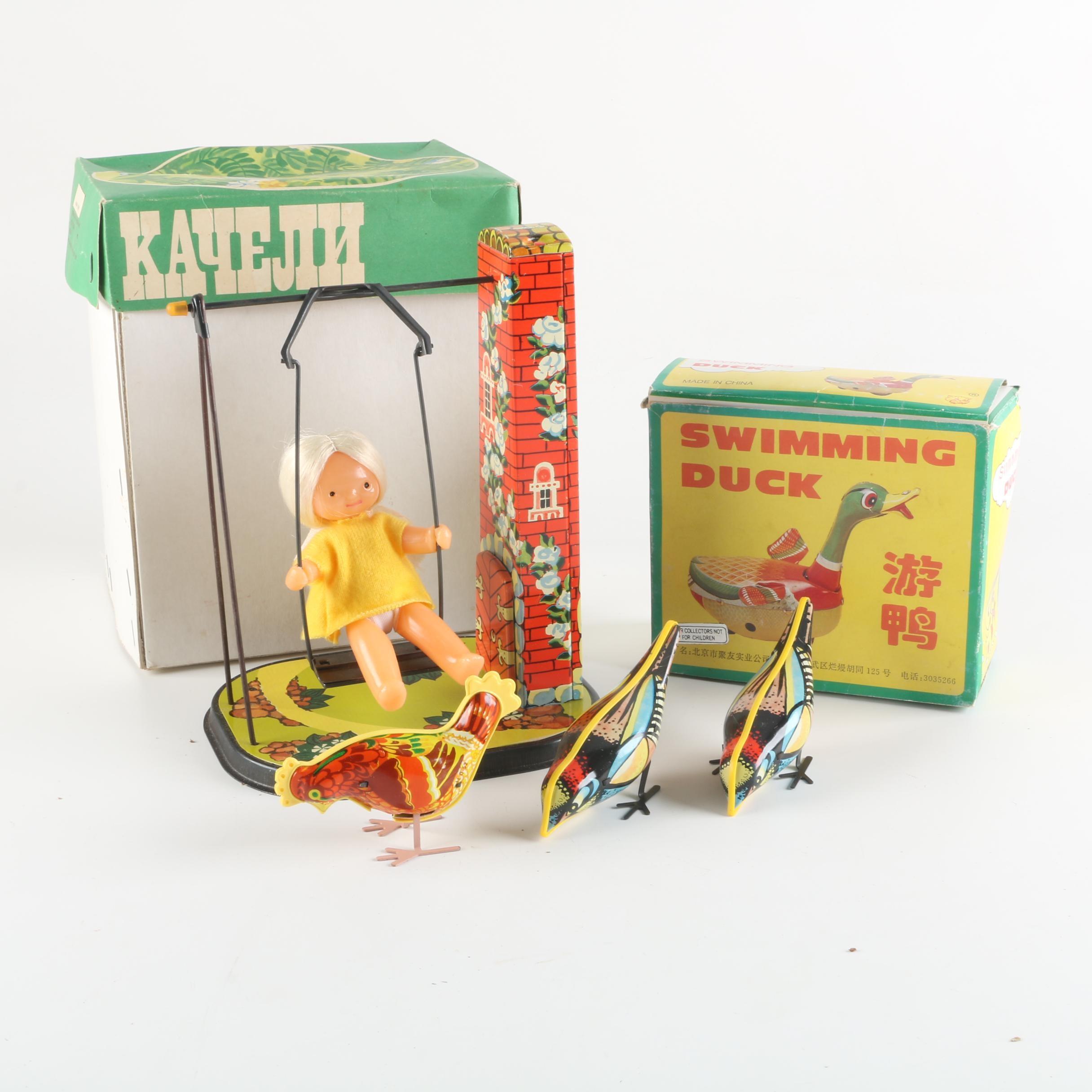 Soviet Tin Litho Wind-Up Toys