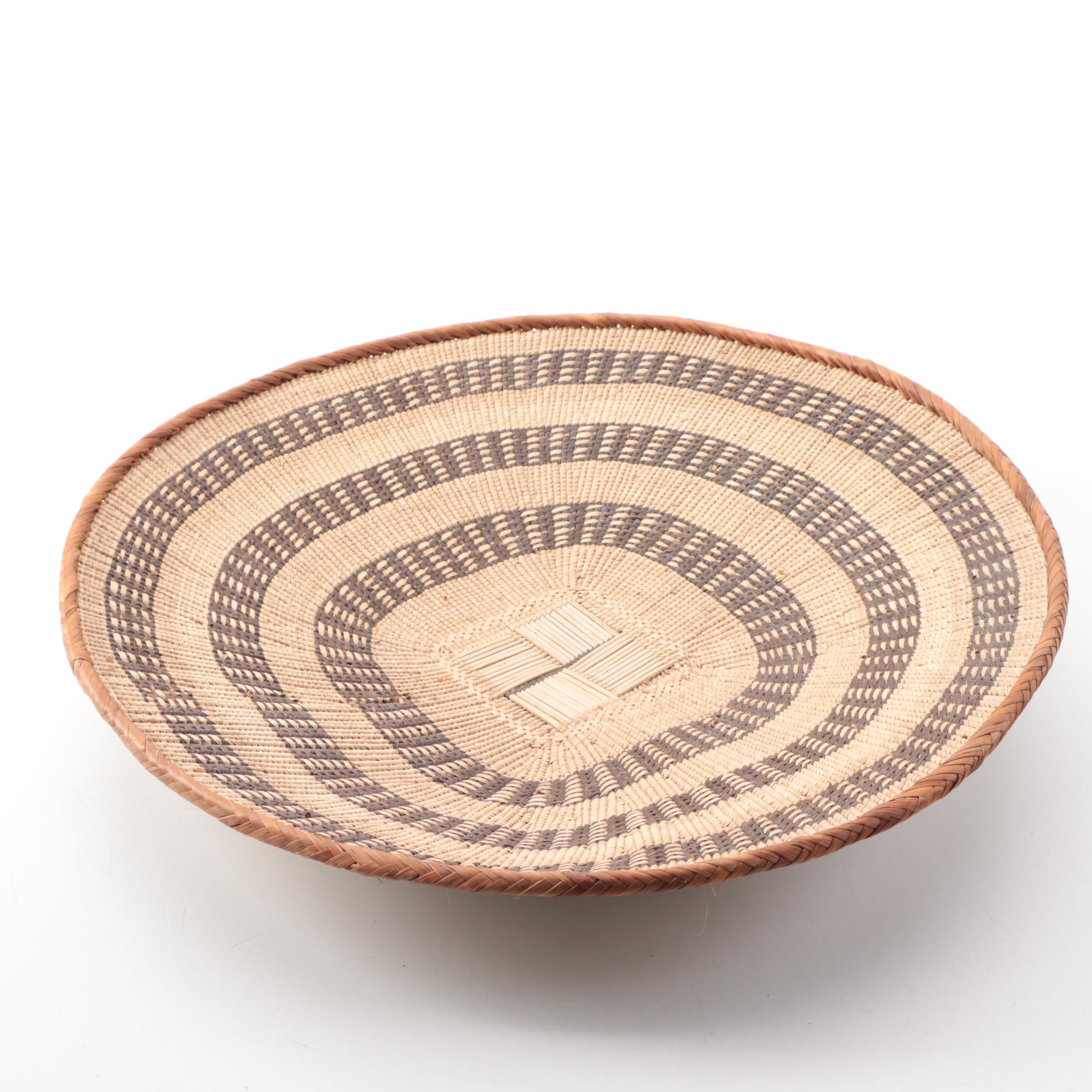 Natural Fiber Woven Basket