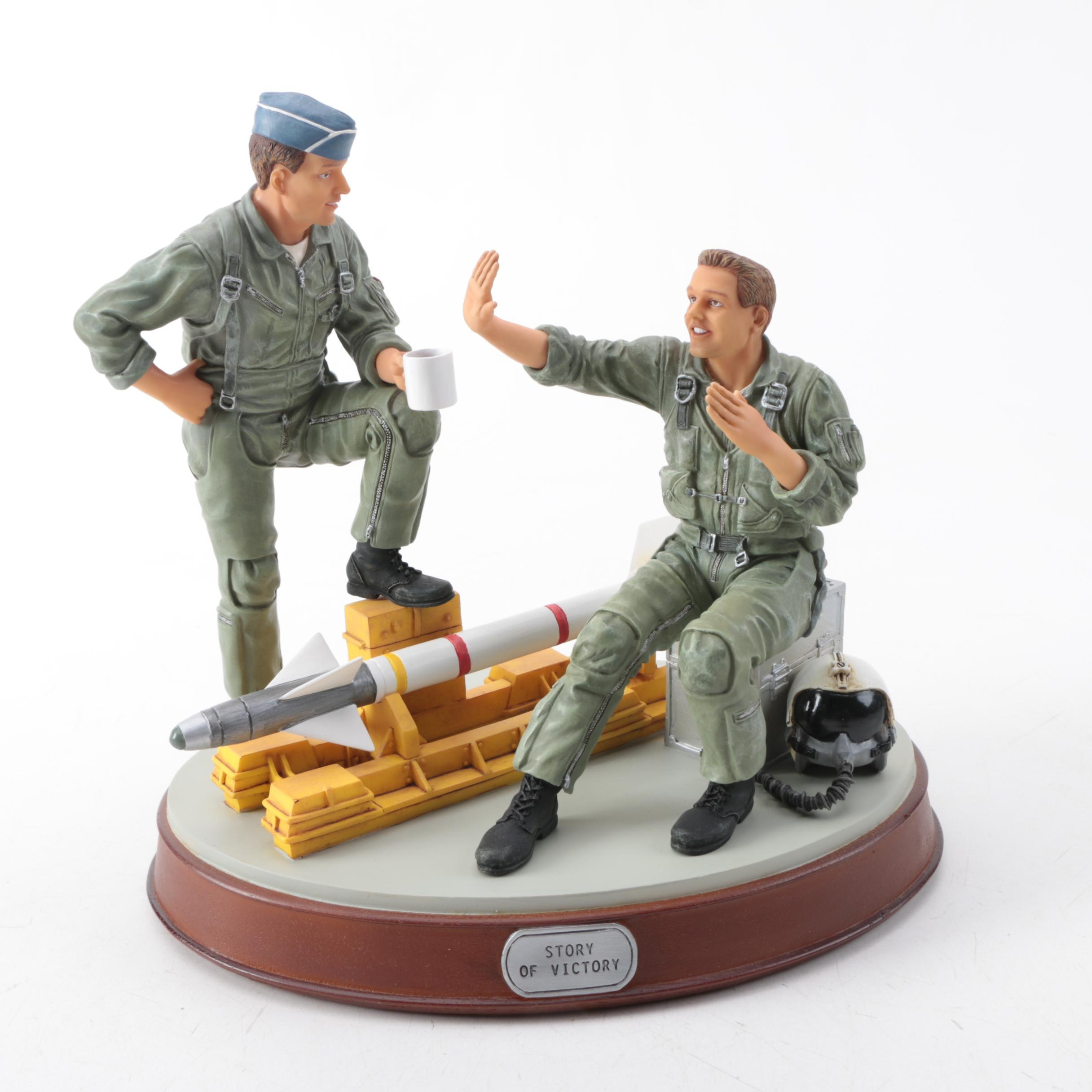 """G.I. Joe Unforgettable Military Moments Resin Sculpture """"Story of Victory"""""""