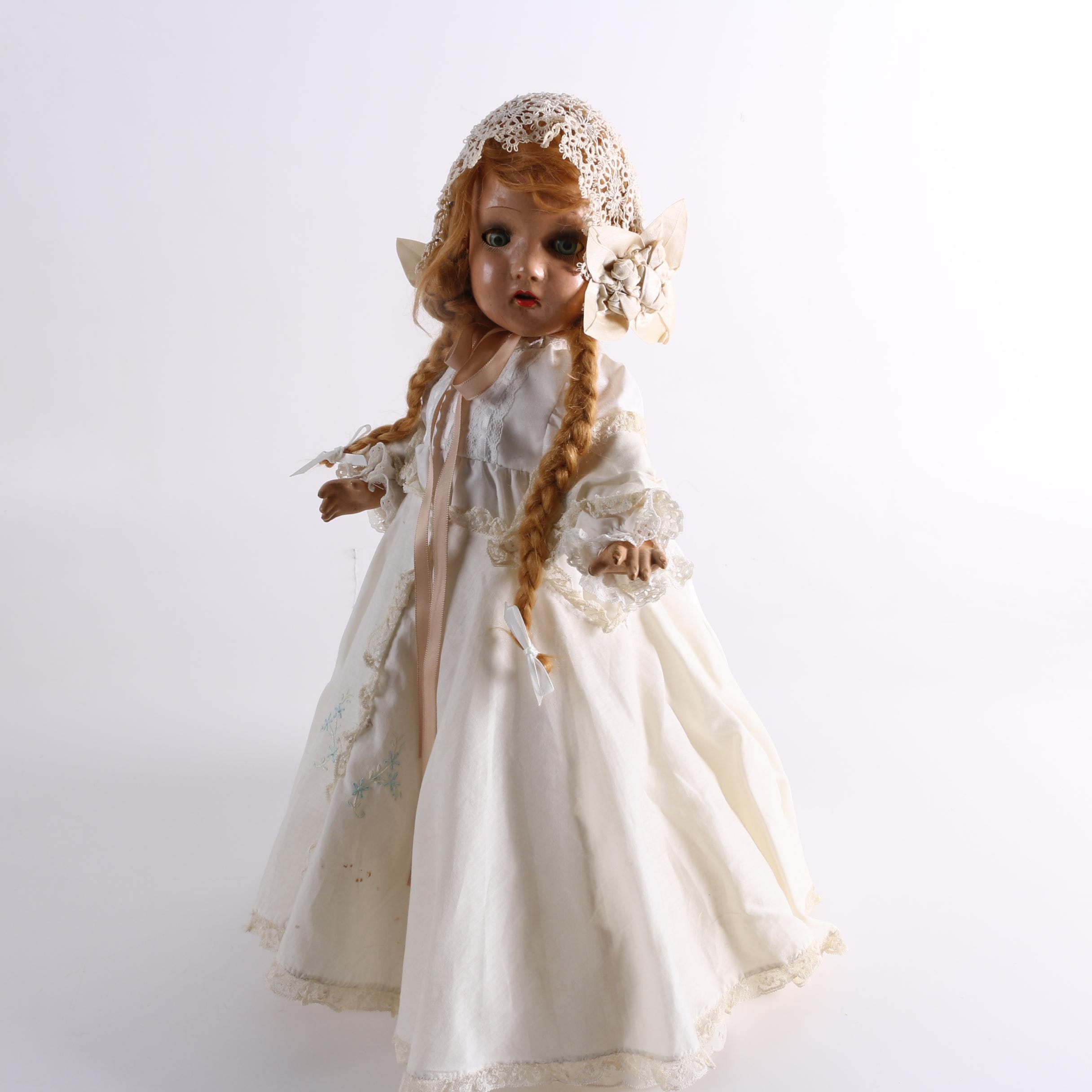 Semi-Antique Composition Doll with Braids