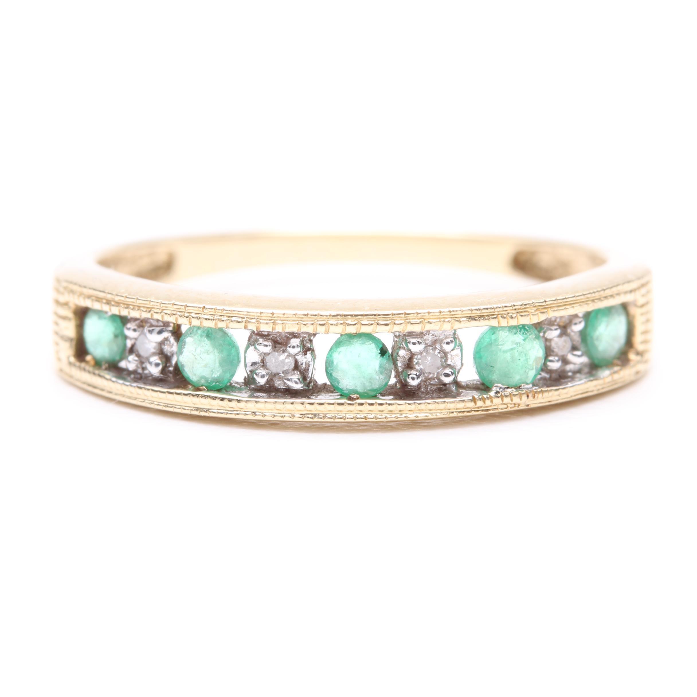 Alwand Vahan 14K Yellow Gold Emerald and Diamond Ring