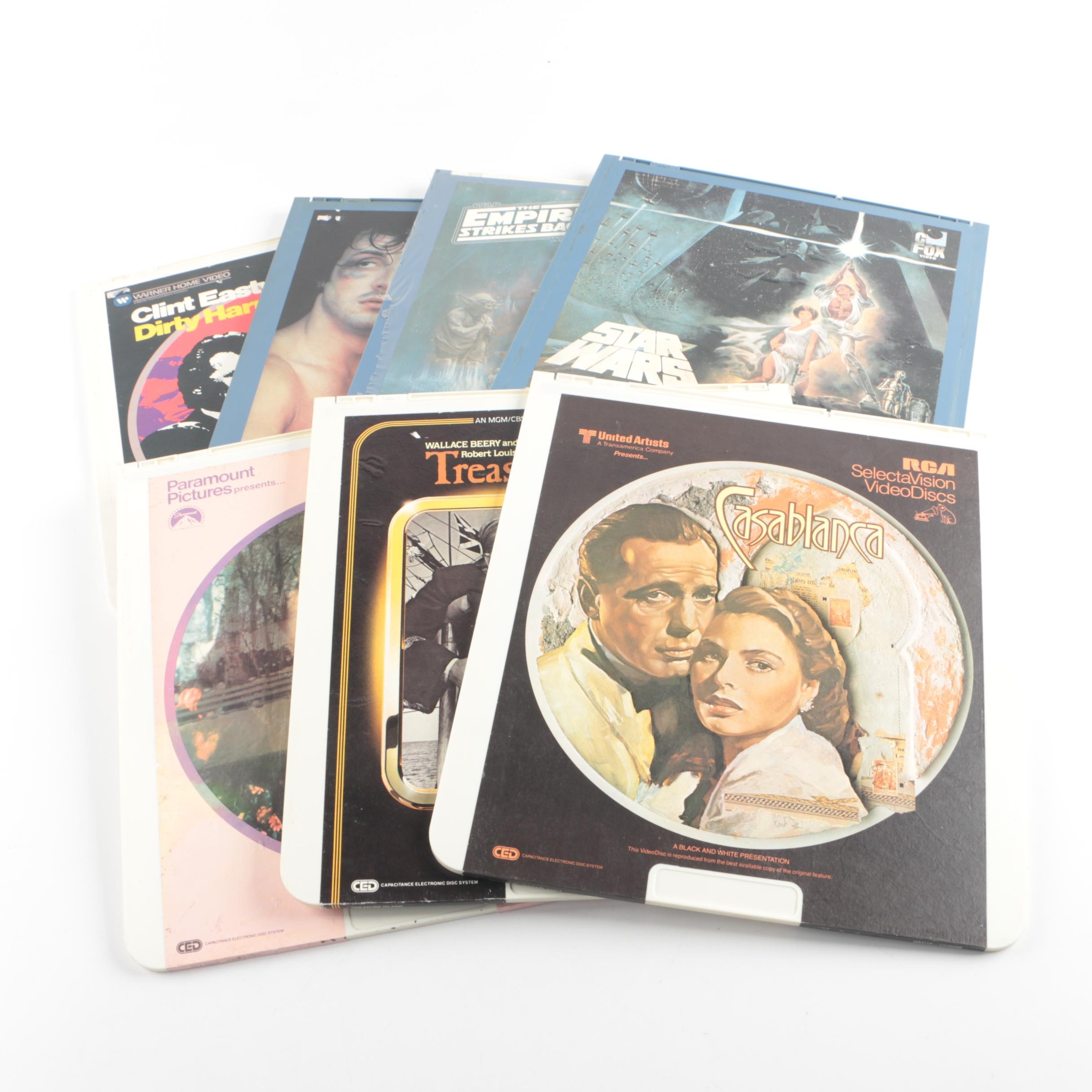 """1980s CED Video Discs, Including """"Star Wars"""" and """"The Empire Strikes Back"""""""