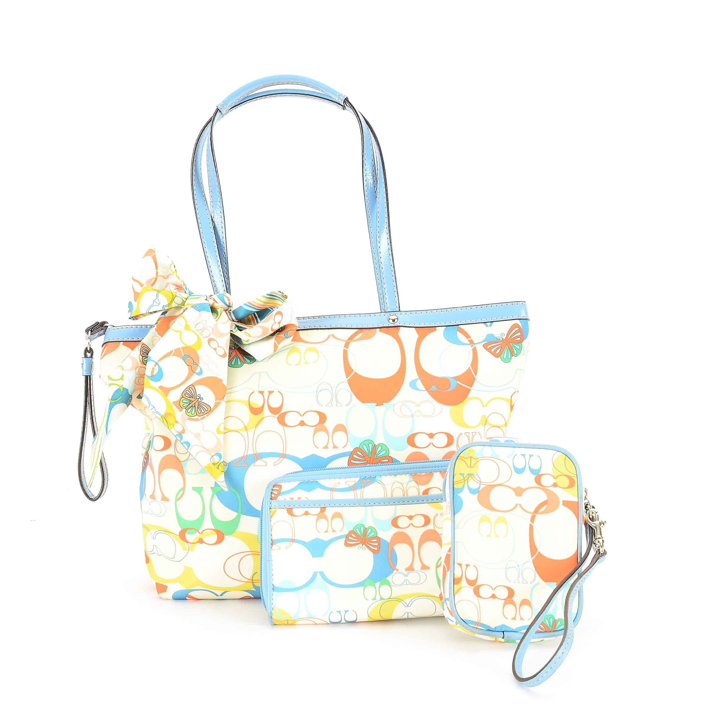 Coach Optic Butterfly and Leather Tote and Wallets