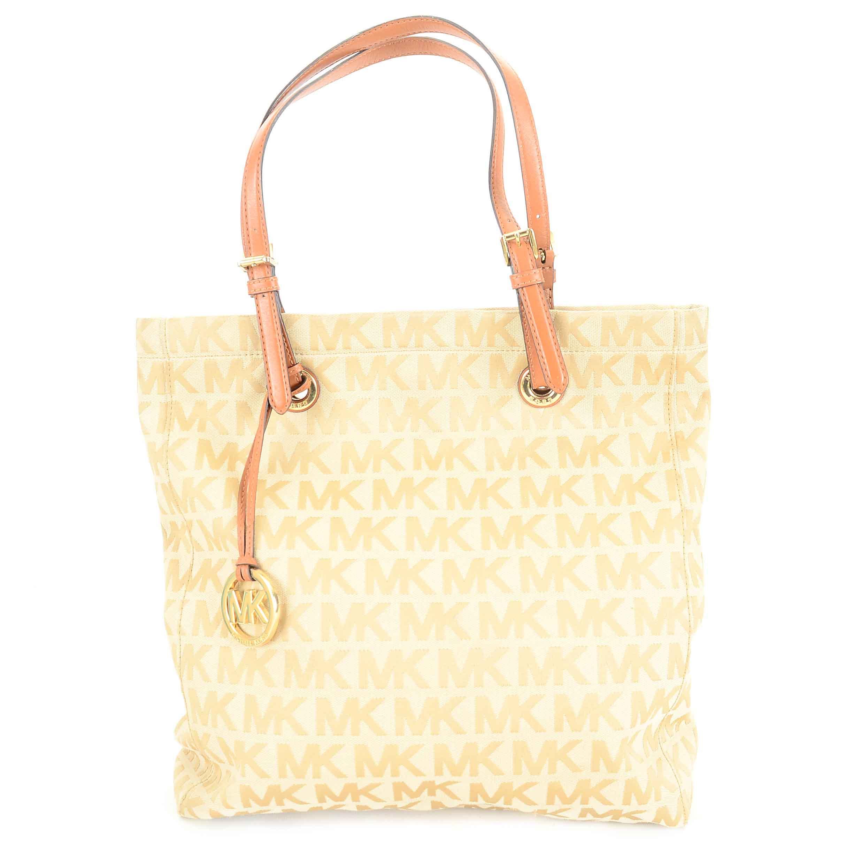 5ae2c7012896 shopping michael kors calf hair zebra handbag gold accents 6e18d cc17b;  sweden michael kors jet set jacquard canvas and leather tote handbag 01466  f8411