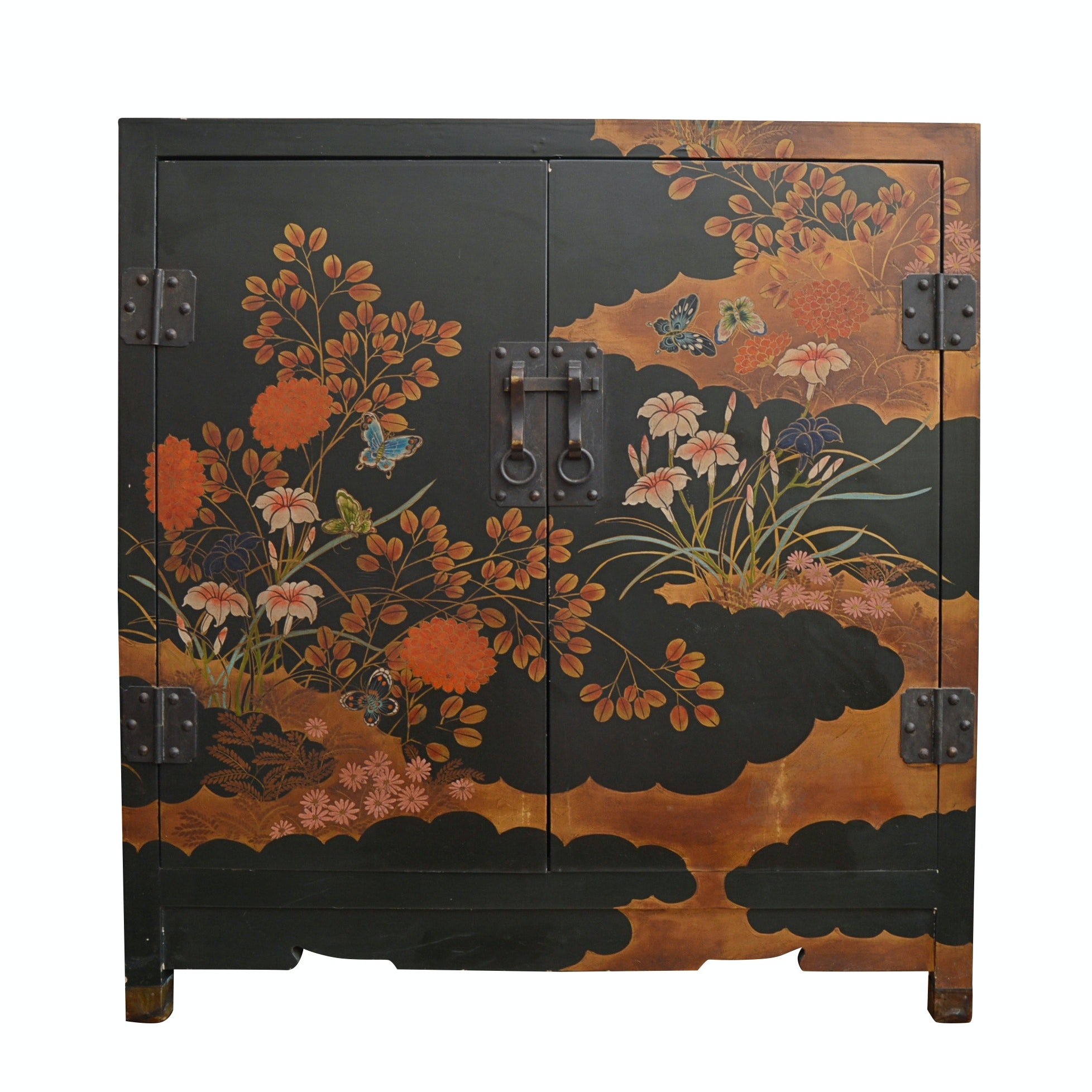 Vintage Japanese Lacquerware Cabinet