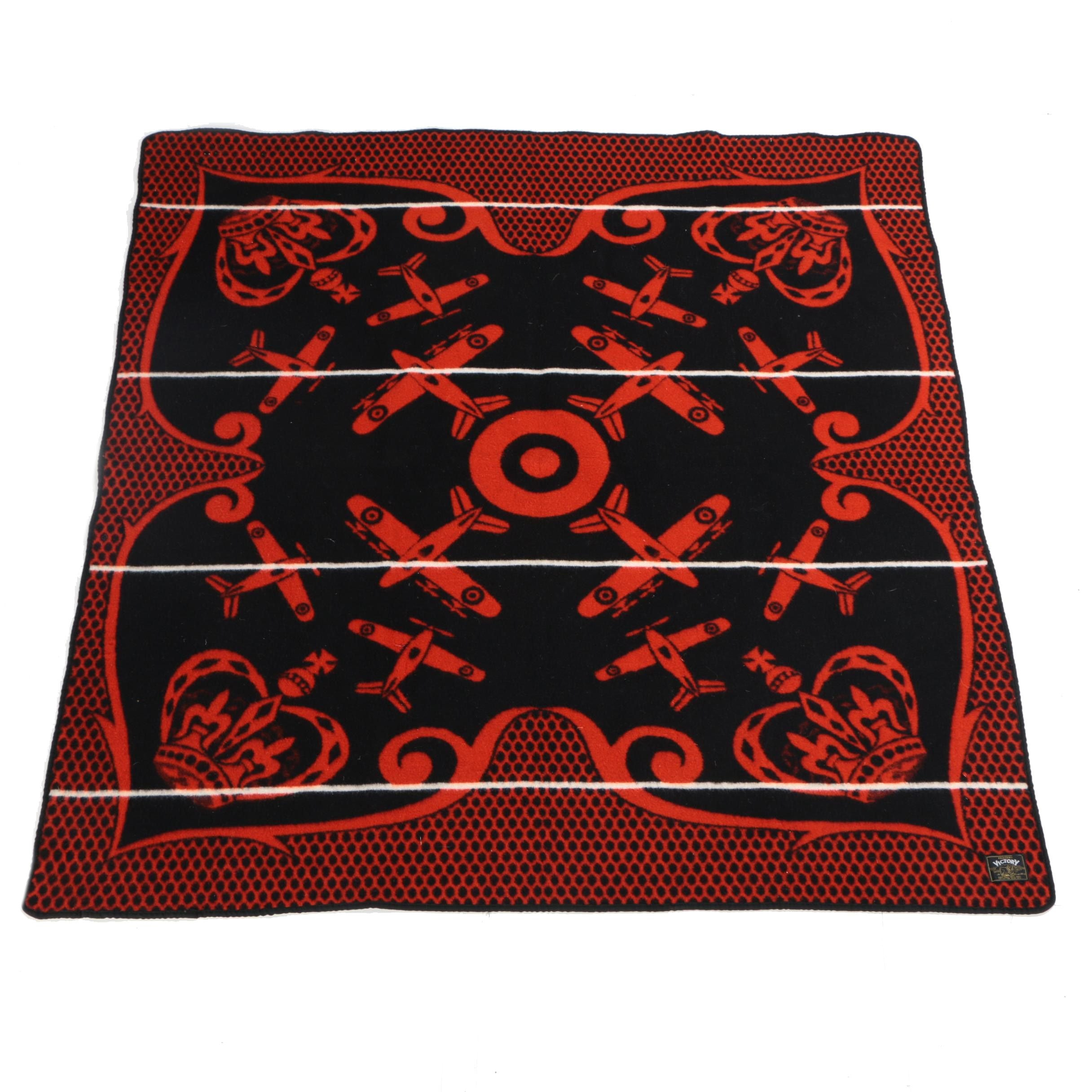 Frasers Victory Airplane Themed Wool Blanket