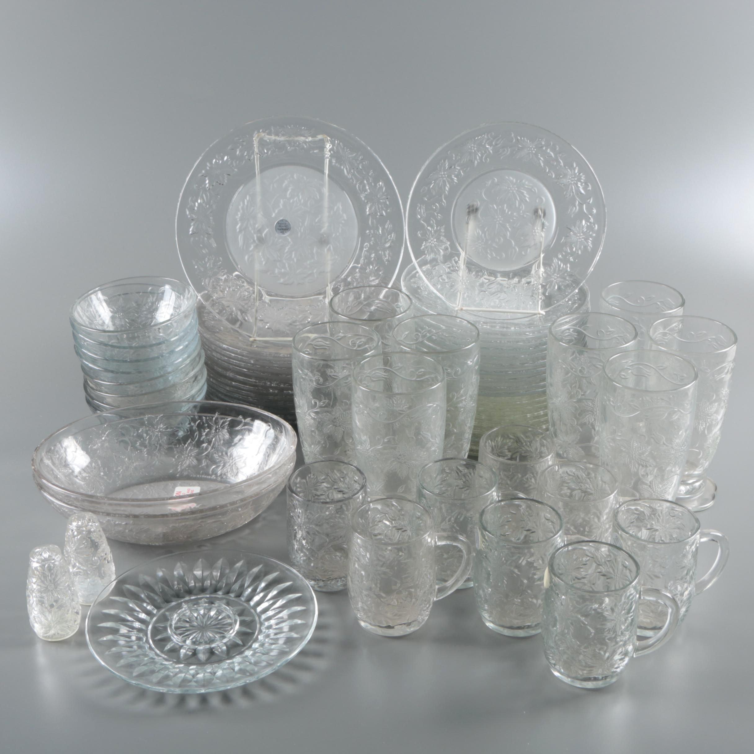 "Princess House"" Fantasia"" Pressed Glass Tableware"