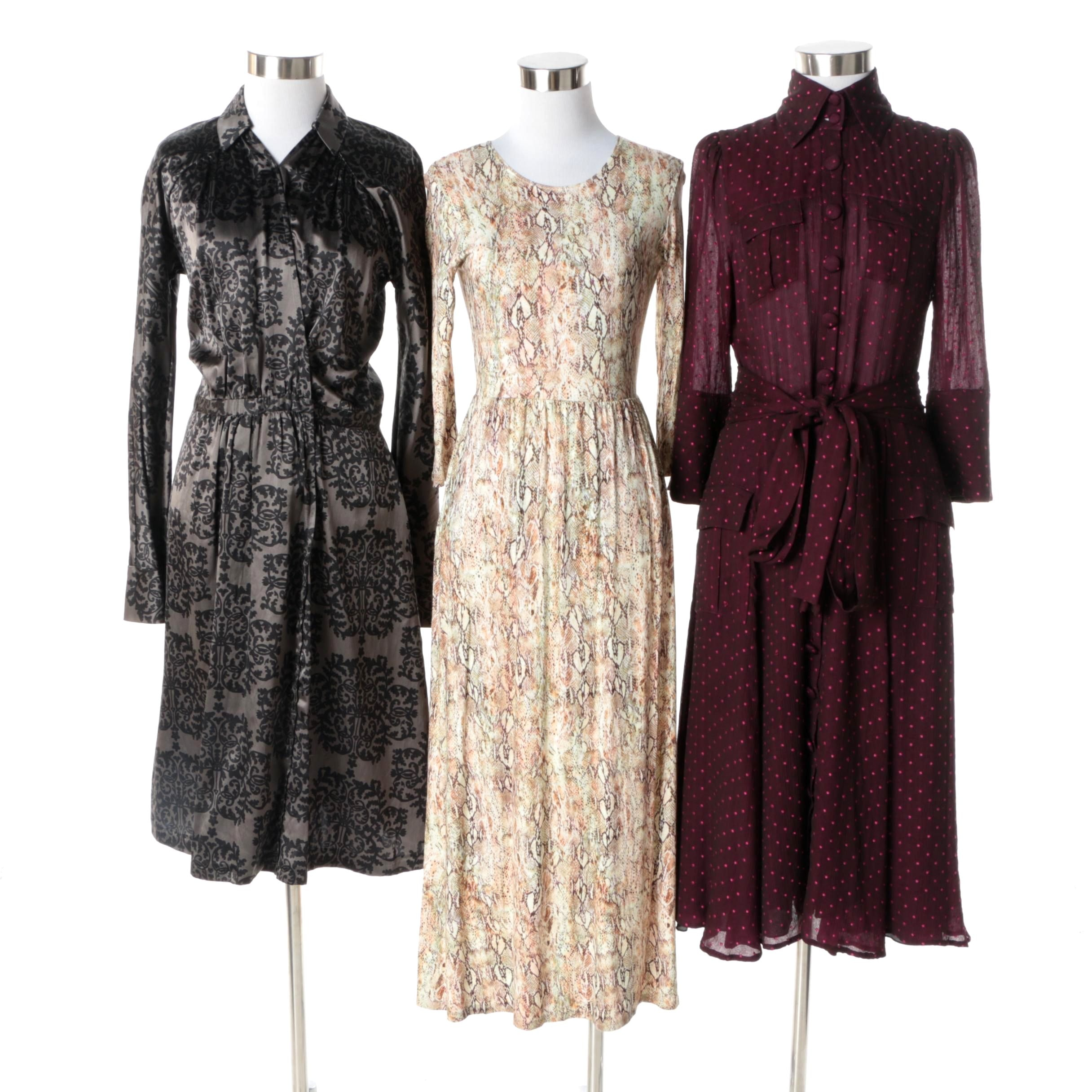 Women's Long Sleeve Dresses Including Diane von Furstenberg