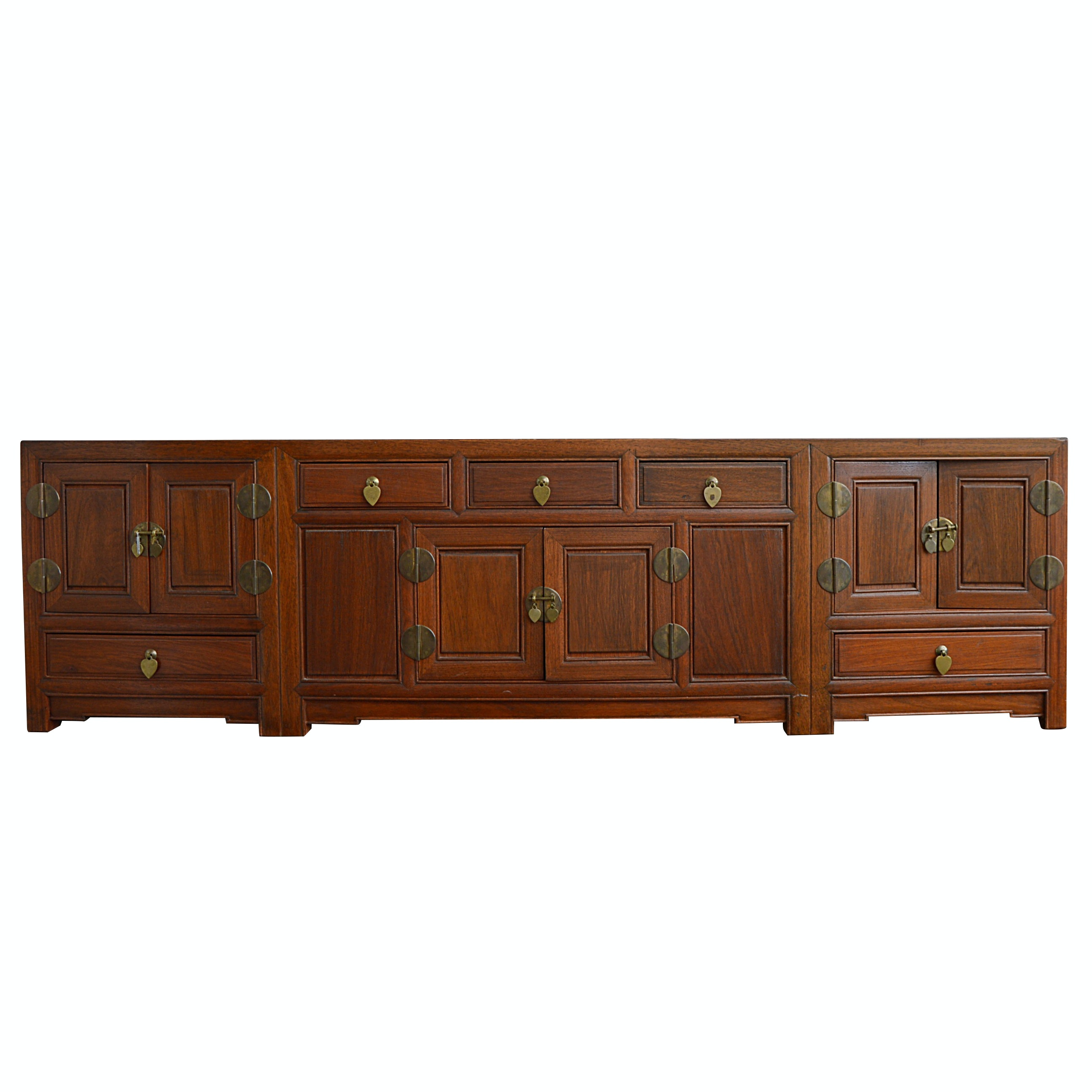 Asian Inspired Teak Wood Cabinet
