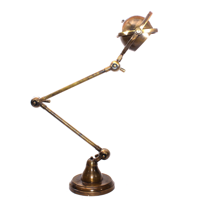 Industrial Brass Task Lamp