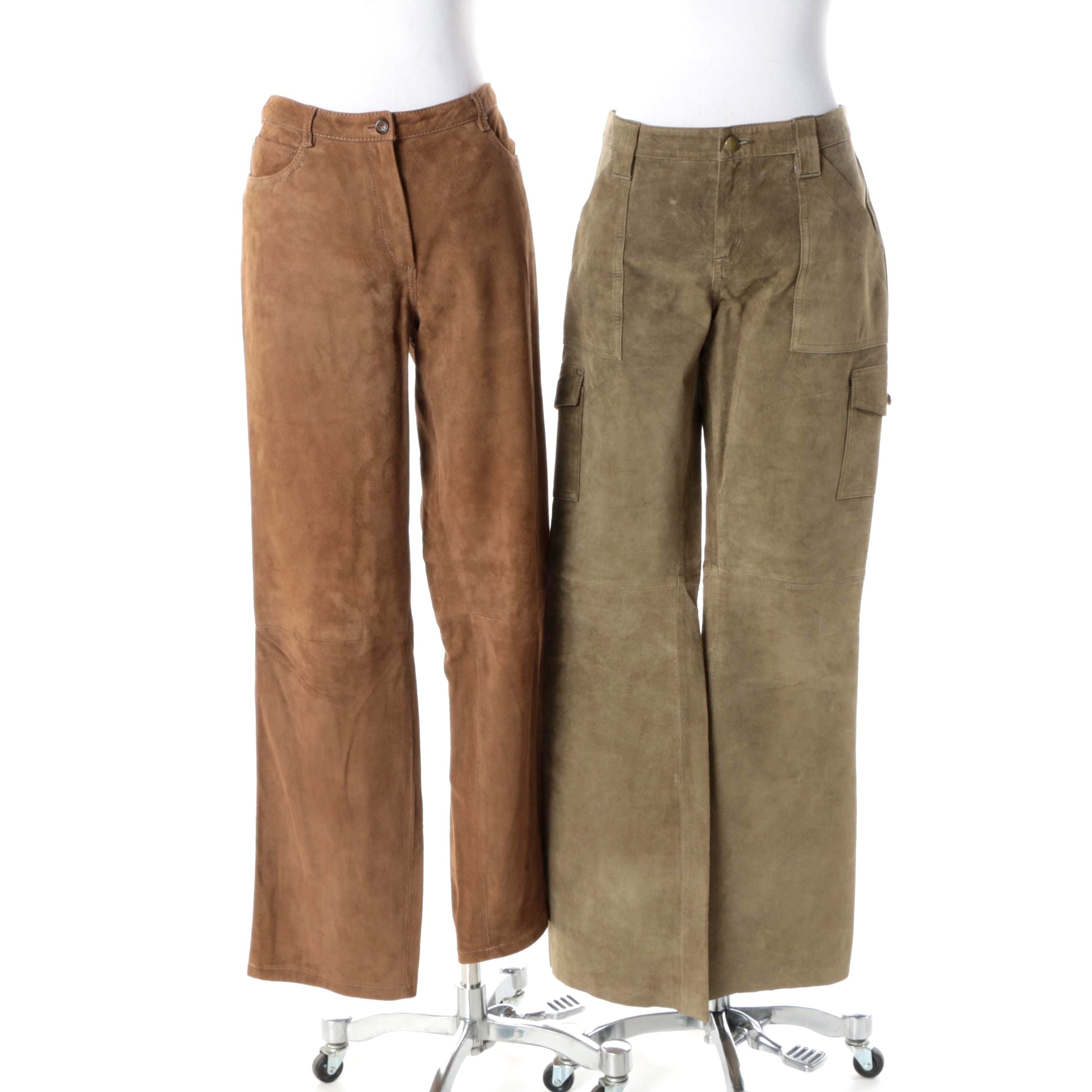 Women's Piazza Sempione and Ezza Michael Hoban Suede Trousers