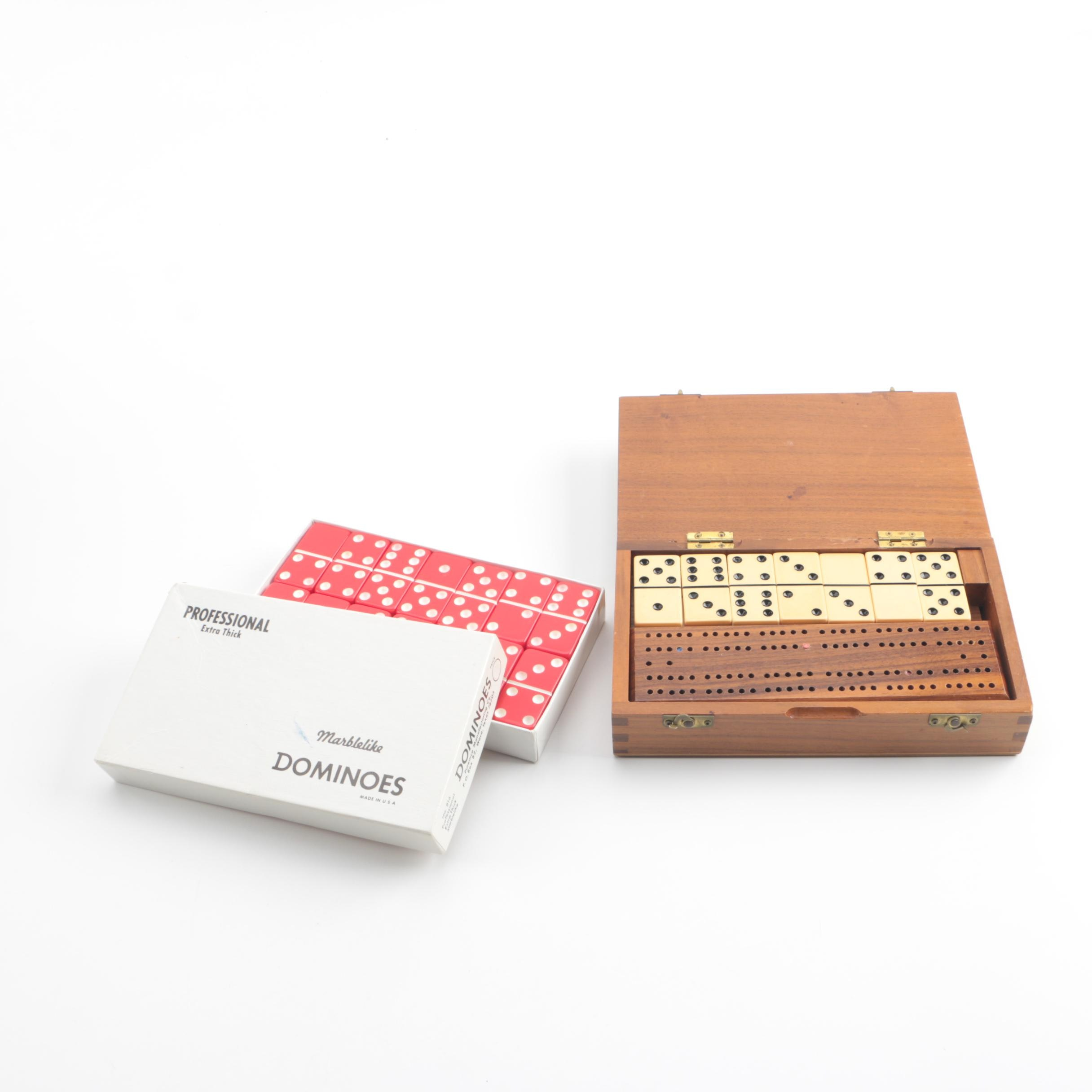 "Puremco ""Marblelike"" and Drueke Dominoes Sets"