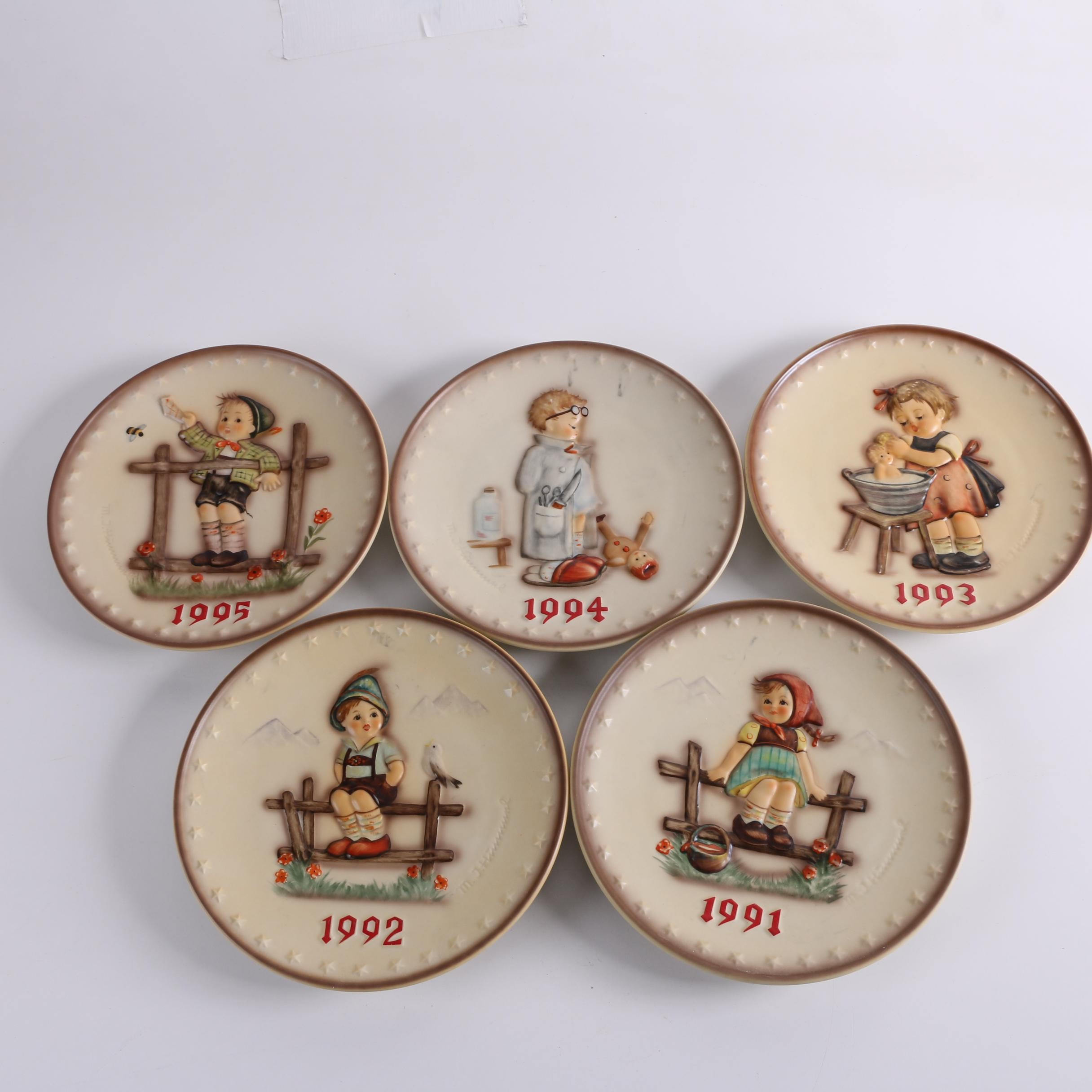 1990s Goebel M.I. Hummel Annual Collector Plates