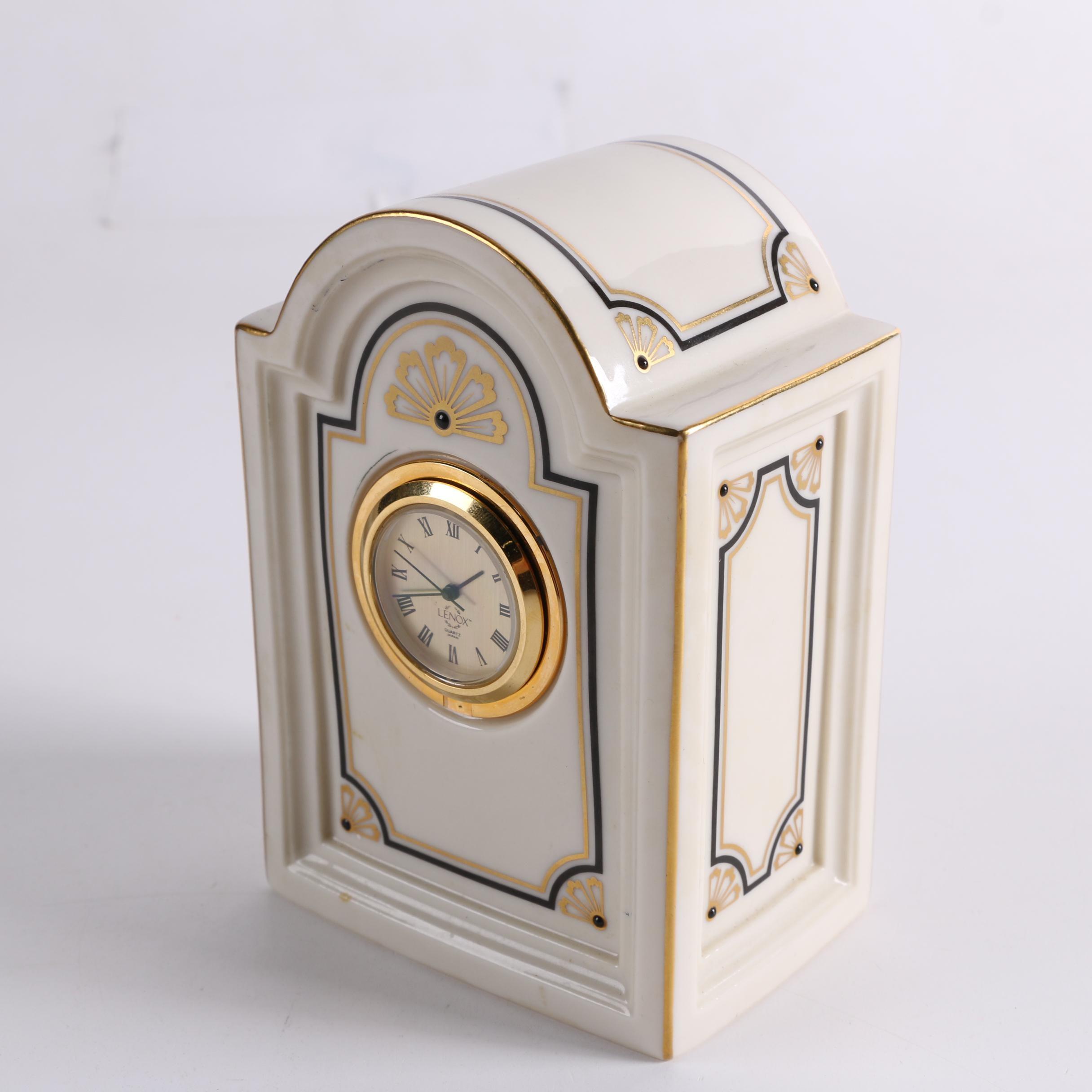 "Lenox ""Brunswick"" Porcelain Mantel Clock"