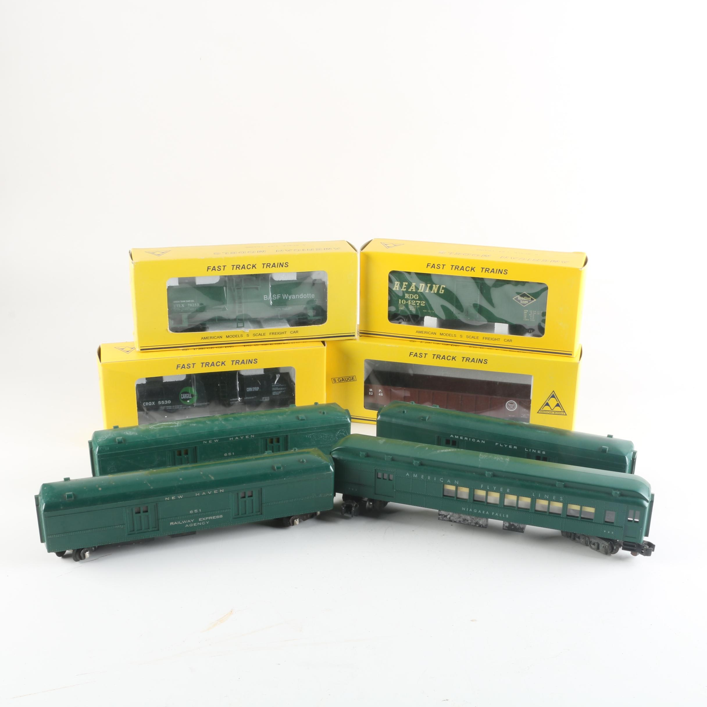 HO and S Scale Train Cars Including American Flyer