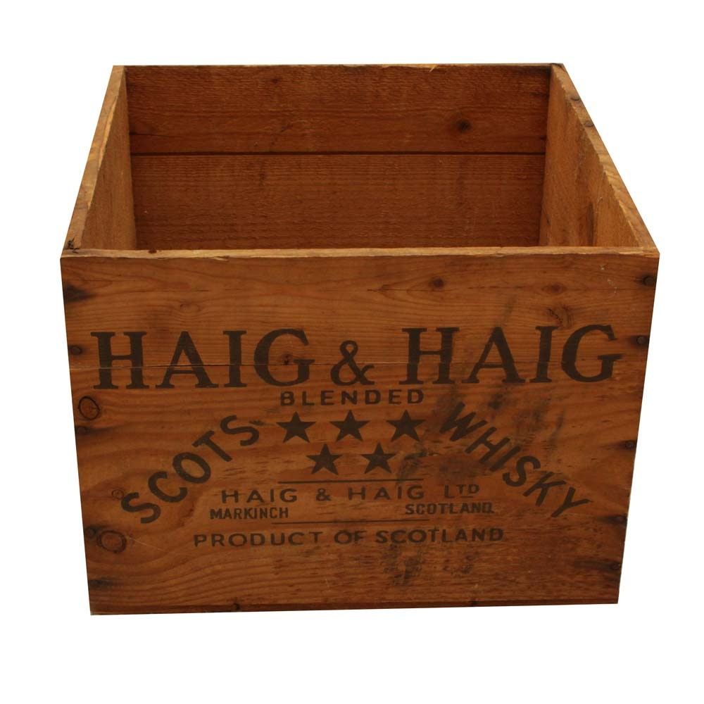 Vintage Haig & Haig Scotch Whiskey Crate