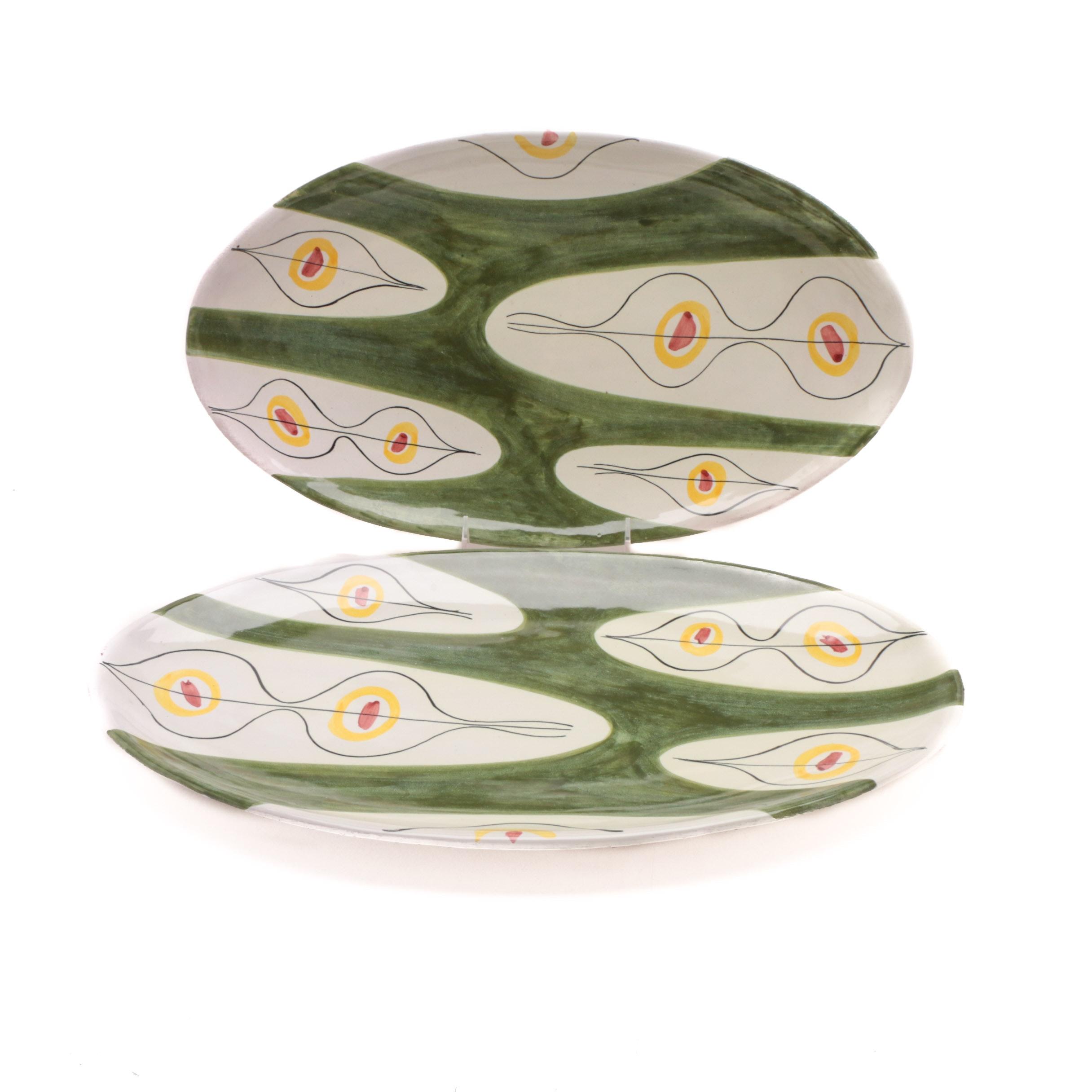 Mid Century Raymor Italian Ceramic Platters