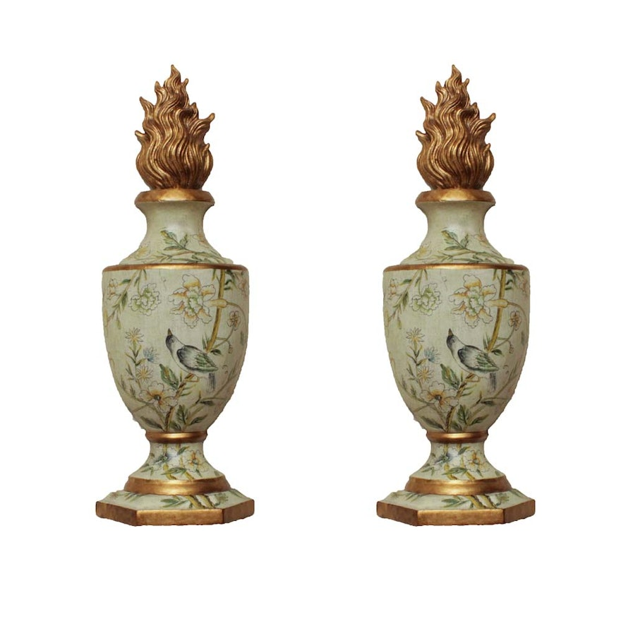 Pair of Decorative Wall Mounting Faux Urns : EBTH