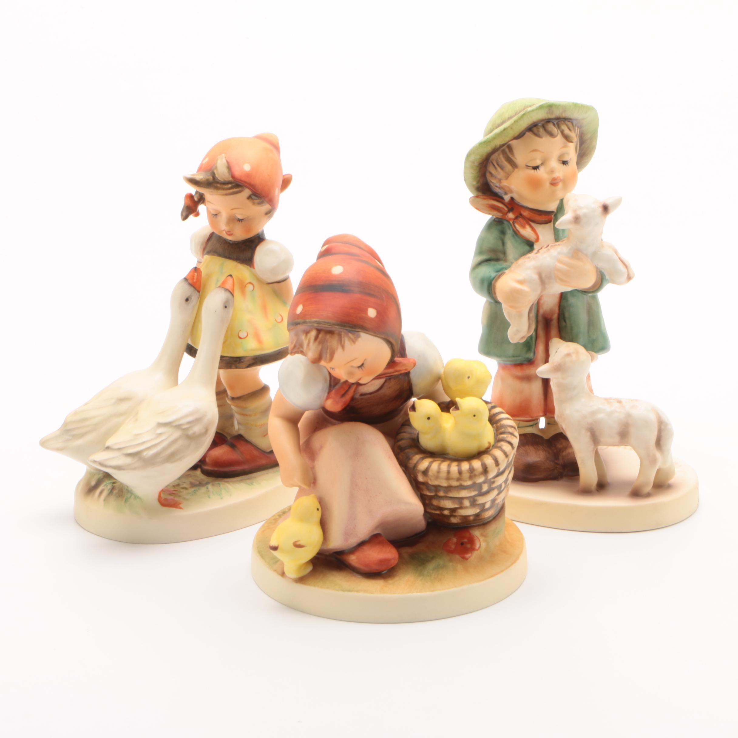 "Hummel Figurines Including ""Goose Girl"", ""Chick Girl"" and ""Shepherd's Boy"""