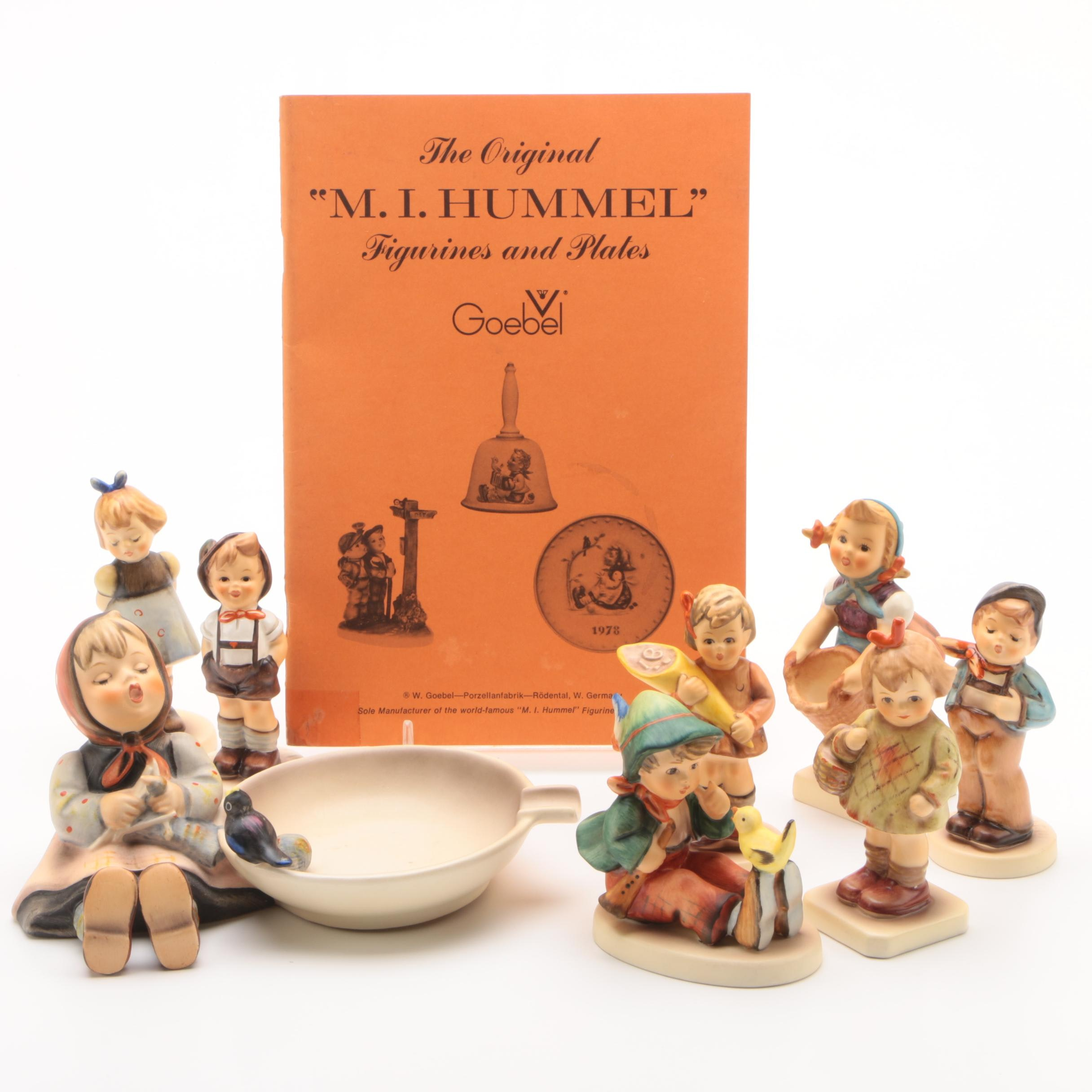 Hummel Miniature Porcelain Figurines with Ash Receiver and Booklet