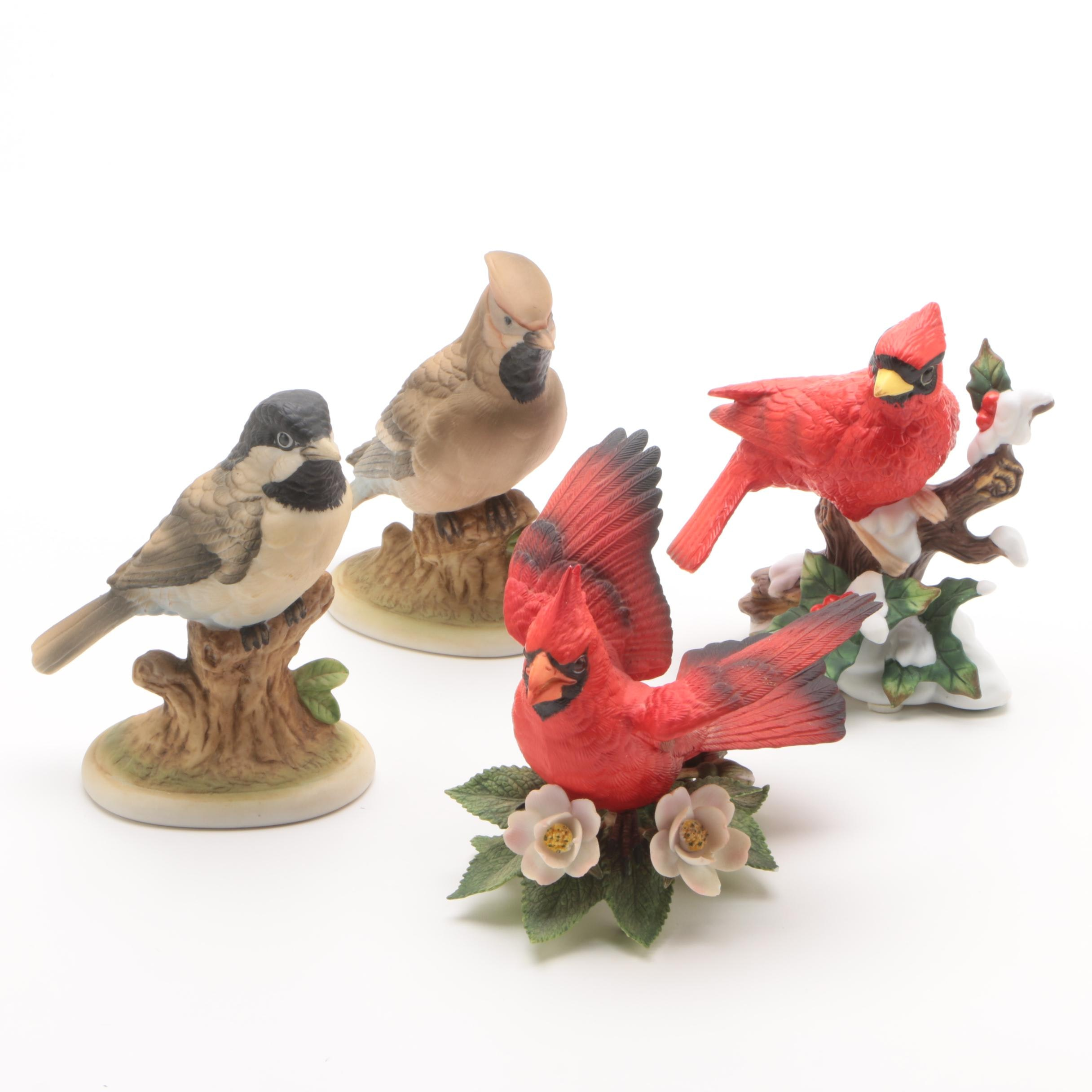 Porcelain Bird Figurines Including Lenox and Lefton