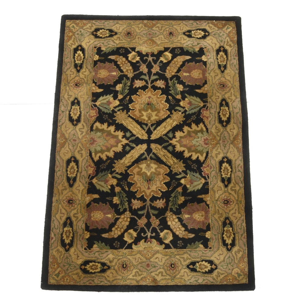"Tufted Indian ""Polonaise"" Accent Rug by Capel"