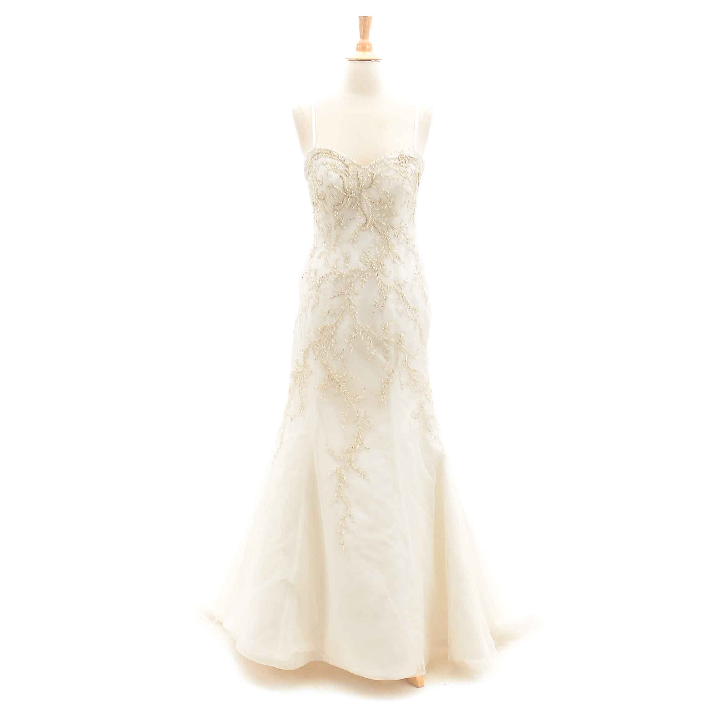 Lovelle by Lazaro Embellished Strapless Wedding Gown