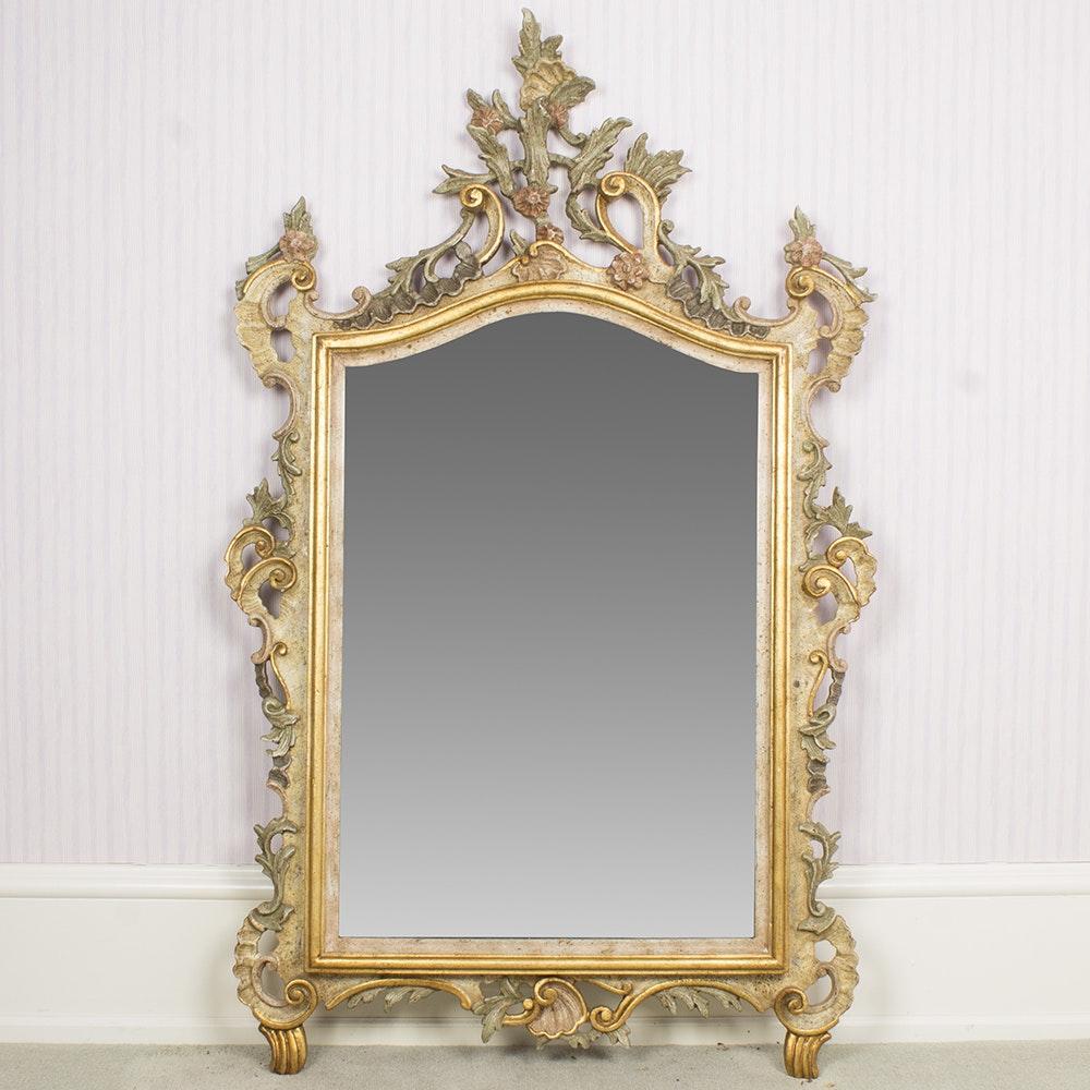 Italian Rococo-Style Wall Mirror by Vero Legno