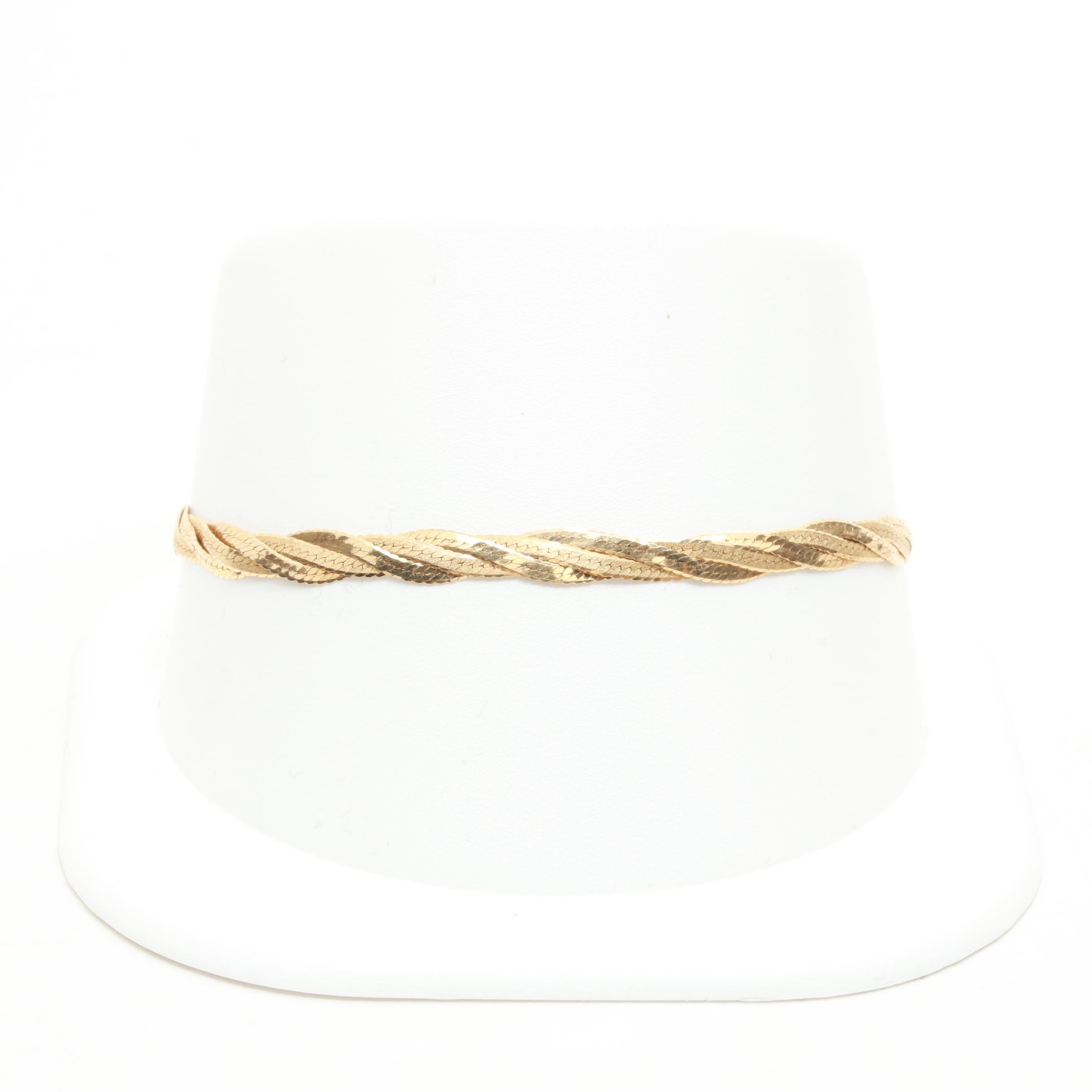 Aurafin 14K Yellow Gold Chain Bracelet