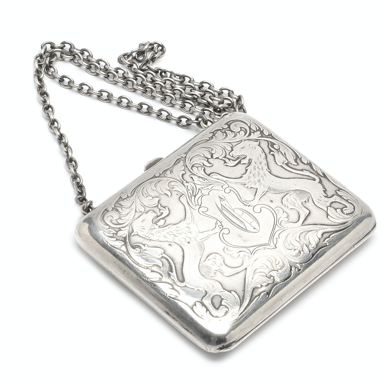Antique Sterling Silver Cigarette Case Converted to Small Purse