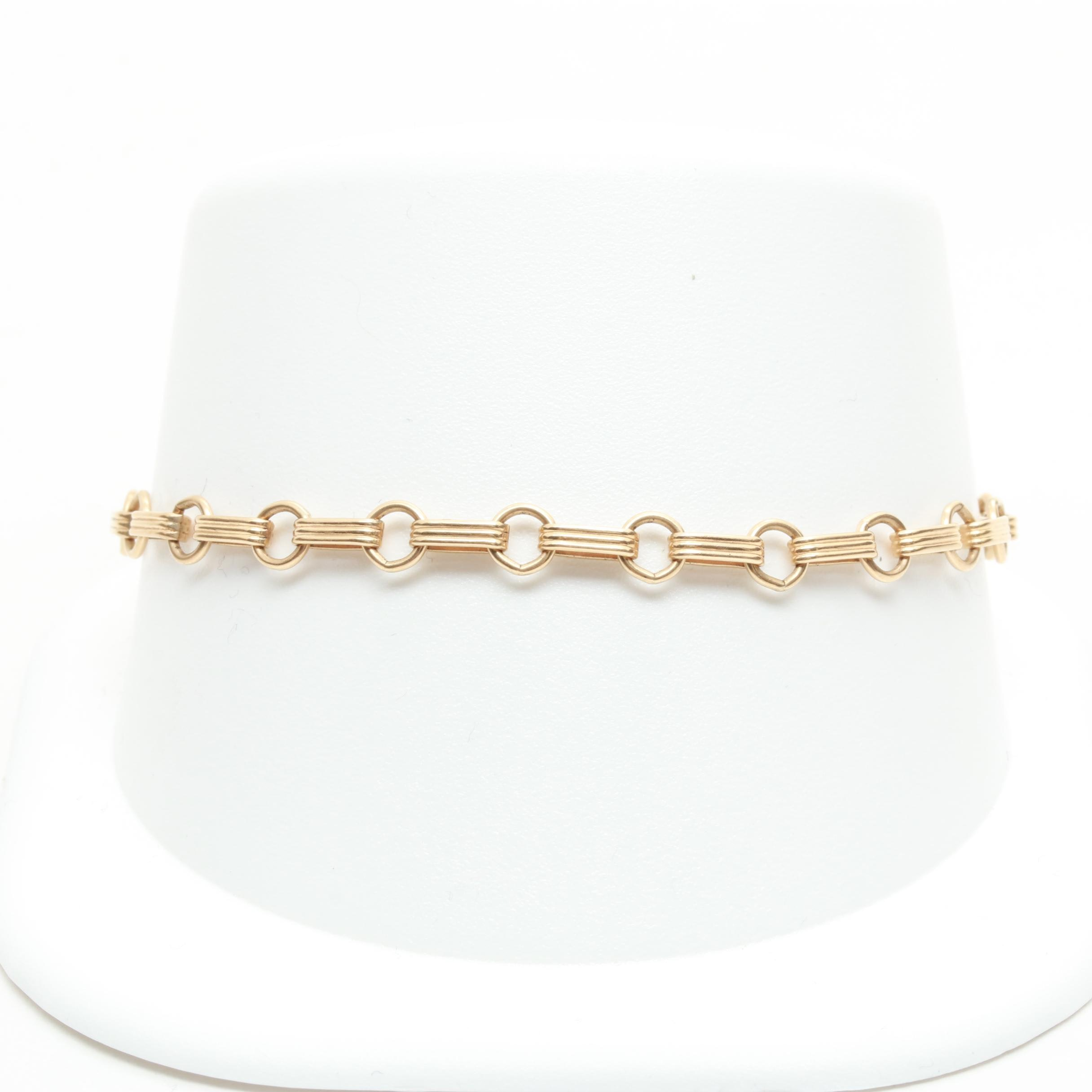 14K Yellow Gold Link Chain Bracelet