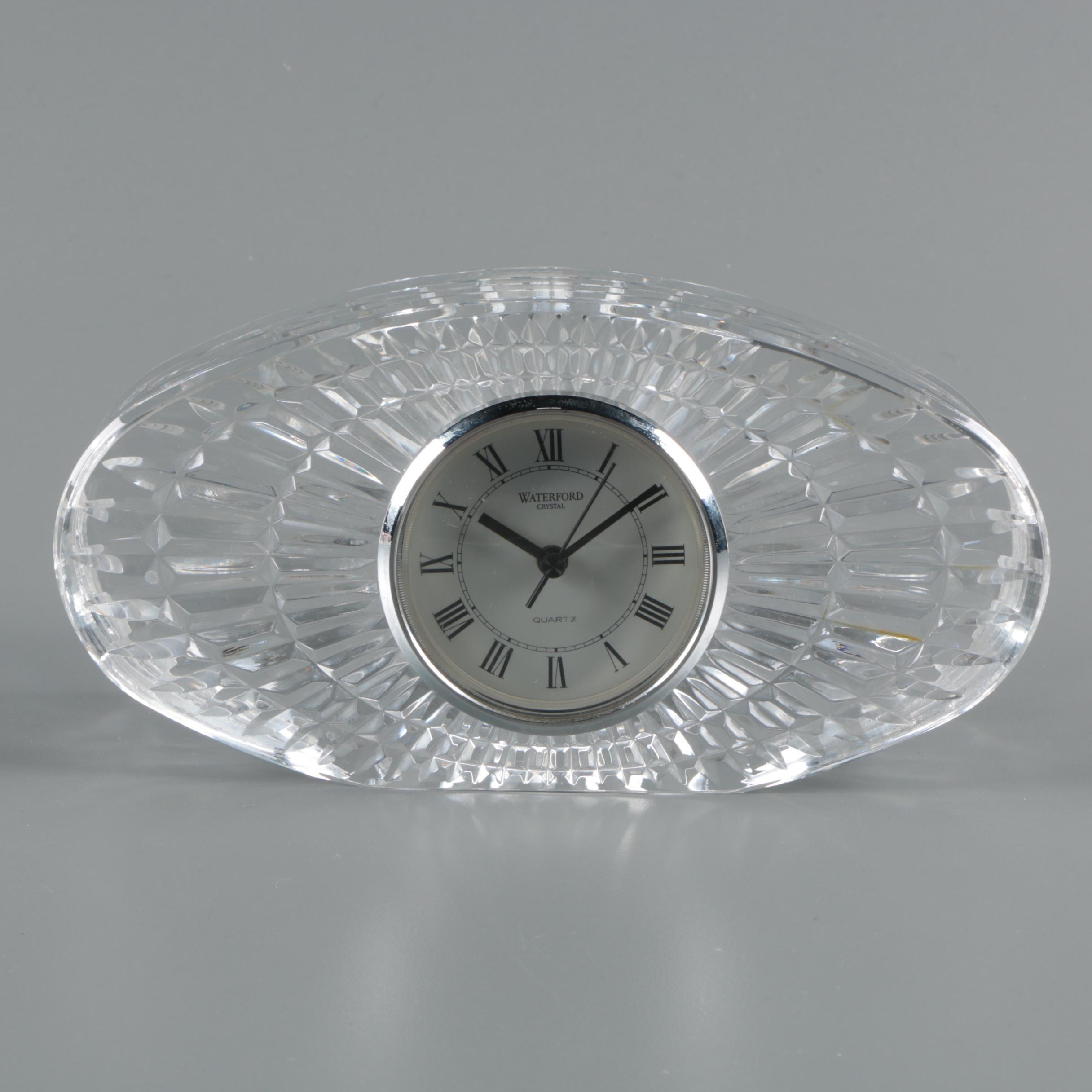 Waterford Crystal Quartz Desk Clock